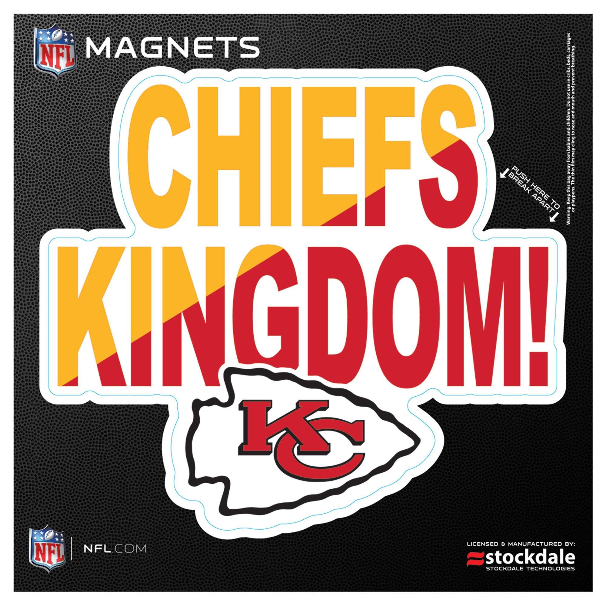 "Kansas City Chiefs 6"" x 6"" Xpression Logo Full Color Car Magnet"