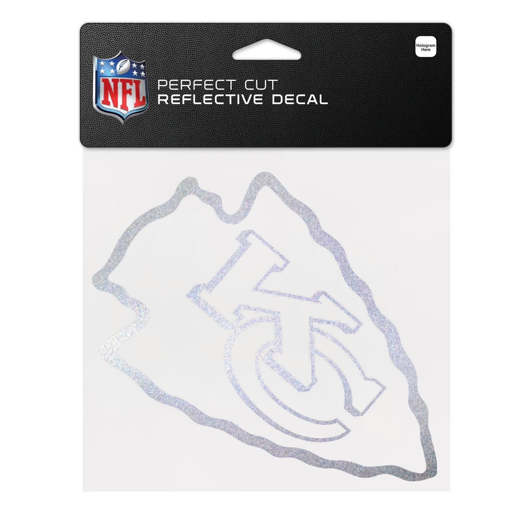 "Kansas City Chiefs WinCraft 6"" x 6"" Reflective Perfect Cut Decal"