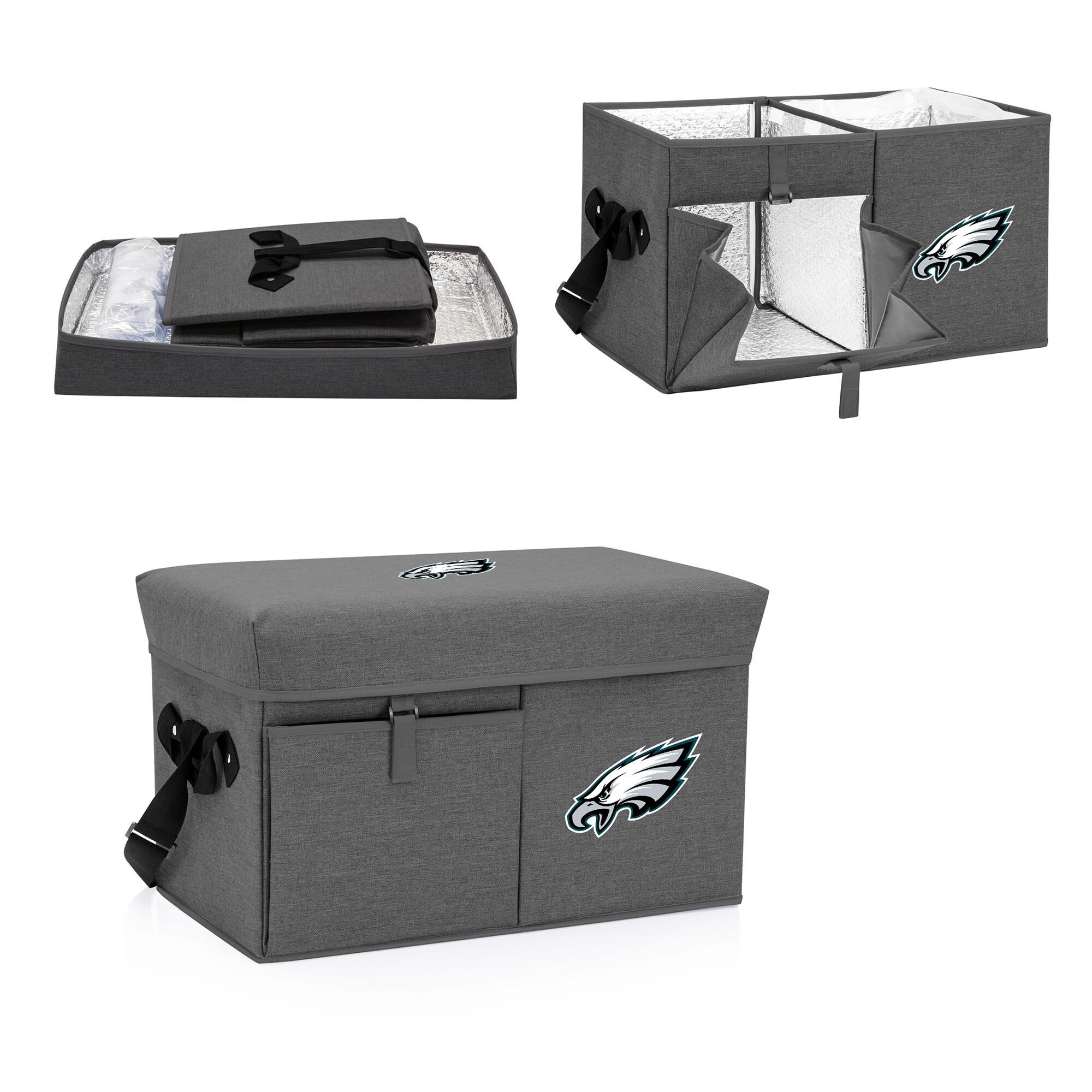 Philadelphia Eagles Ottoman Cooler & Seat - Gray