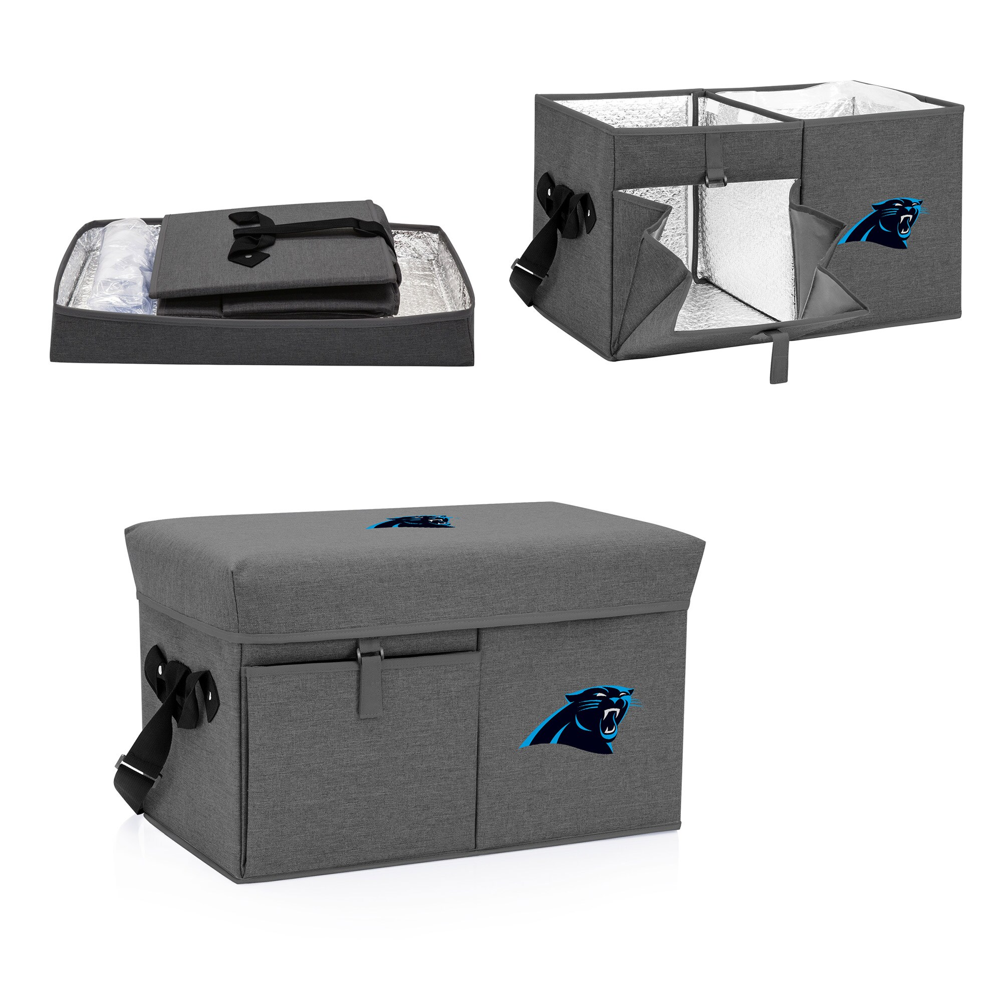 Carolina Panthers Ottoman Cooler & Seat - Gray