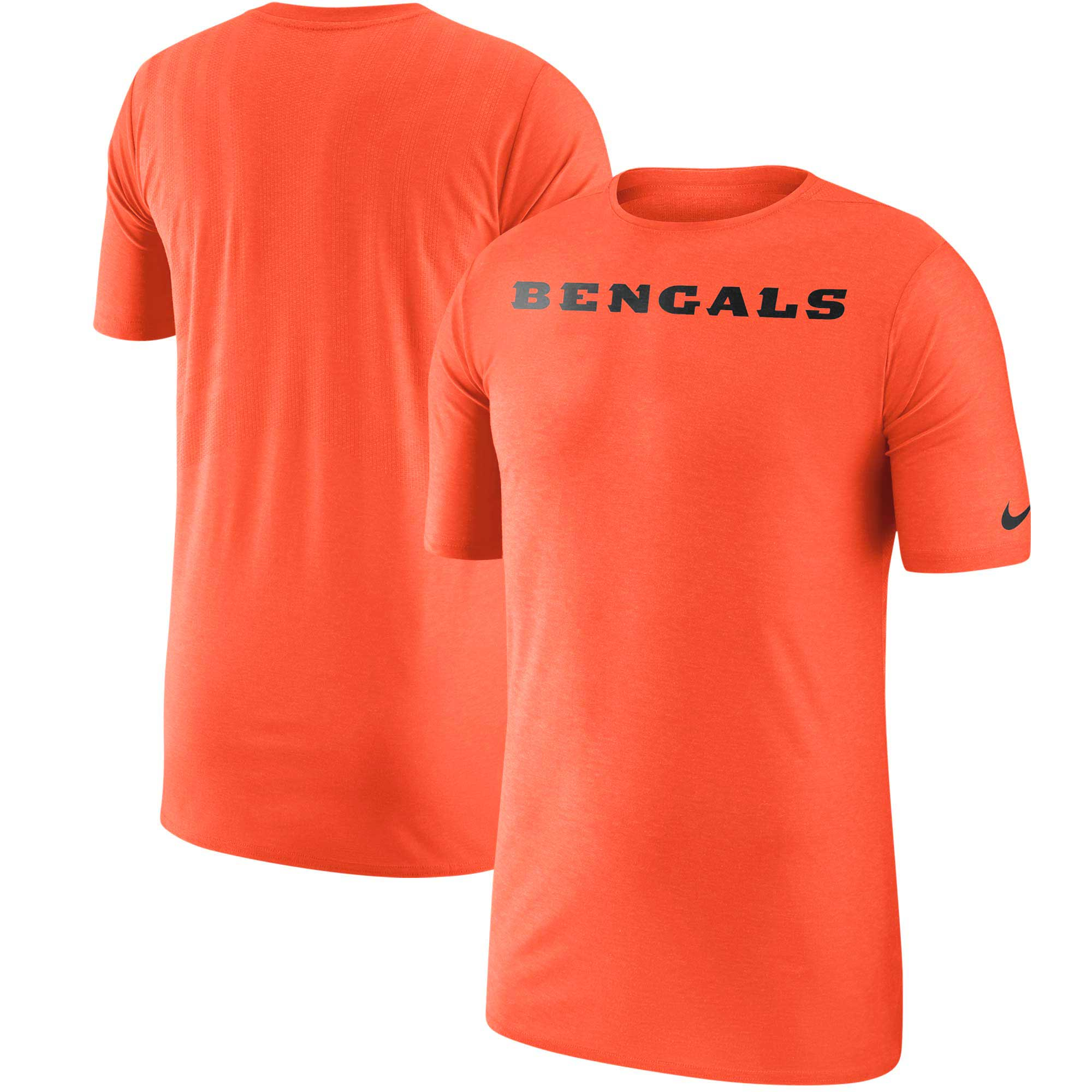 Cincinnati Bengals Nike Sideline Player T-Shirt - Orange