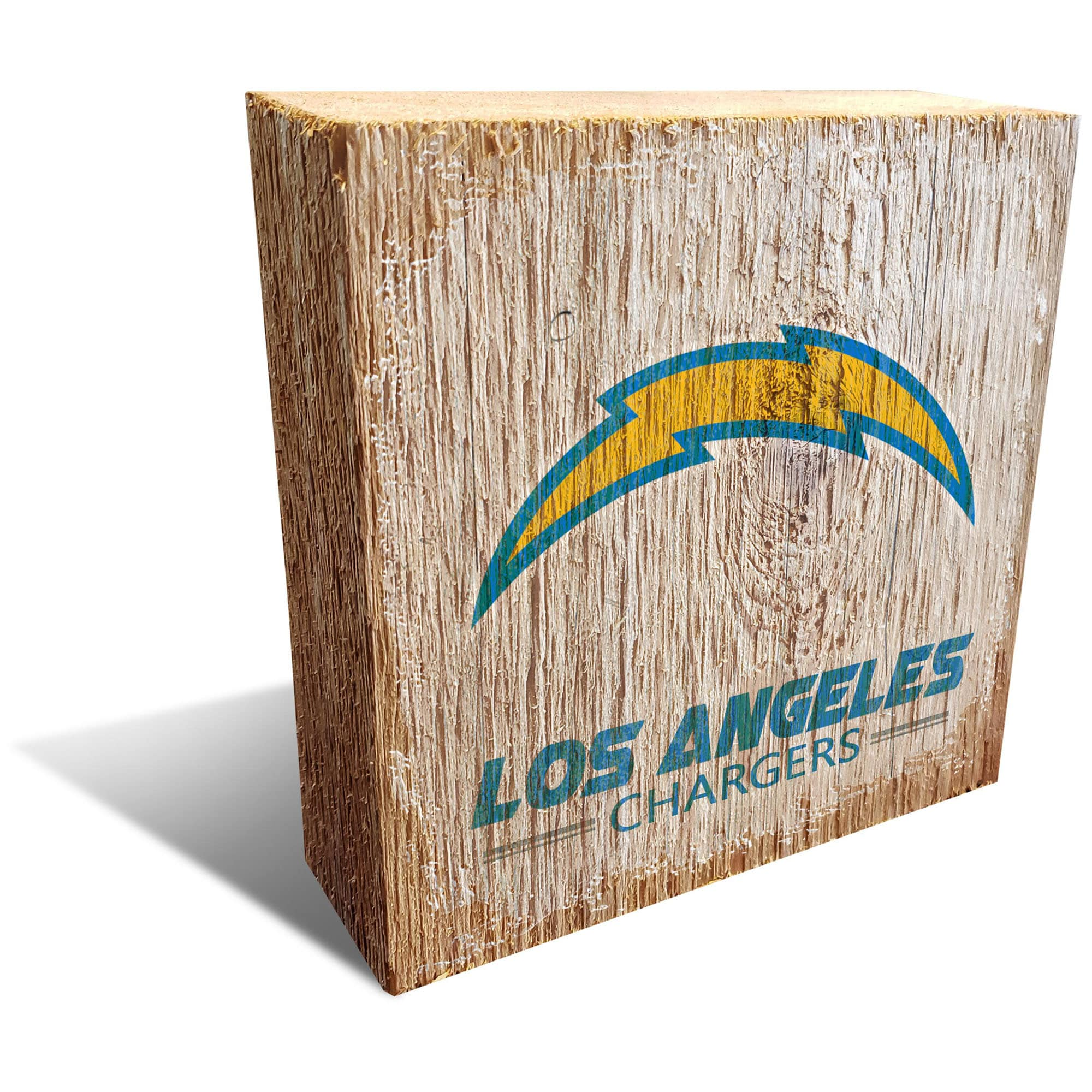 Los Angeles Chargers 6'' x 6'' Team Logo Block