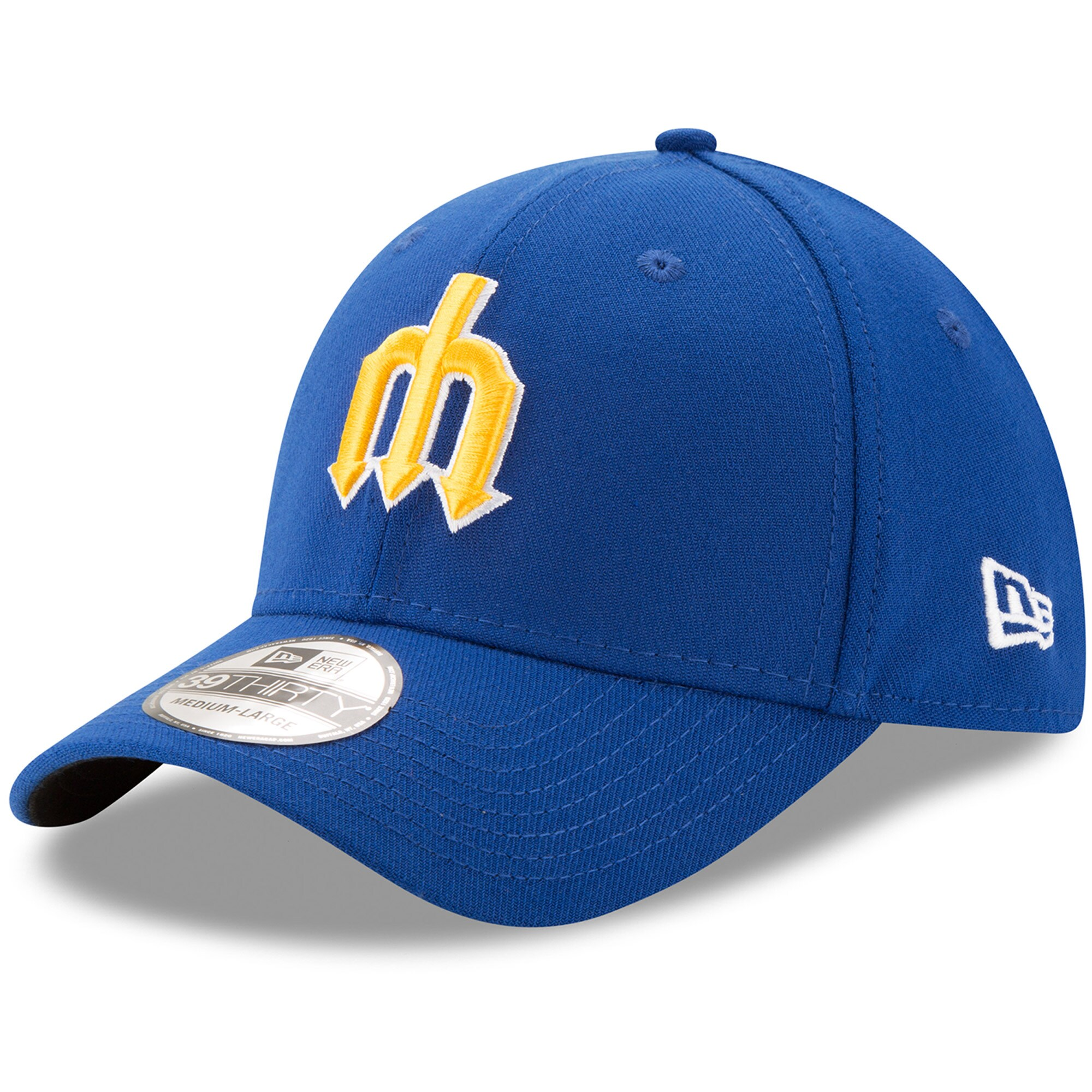 Seattle Mariners New Era Cooperstown Collection Team Classic 39THIRTY Flex Hat - Royal