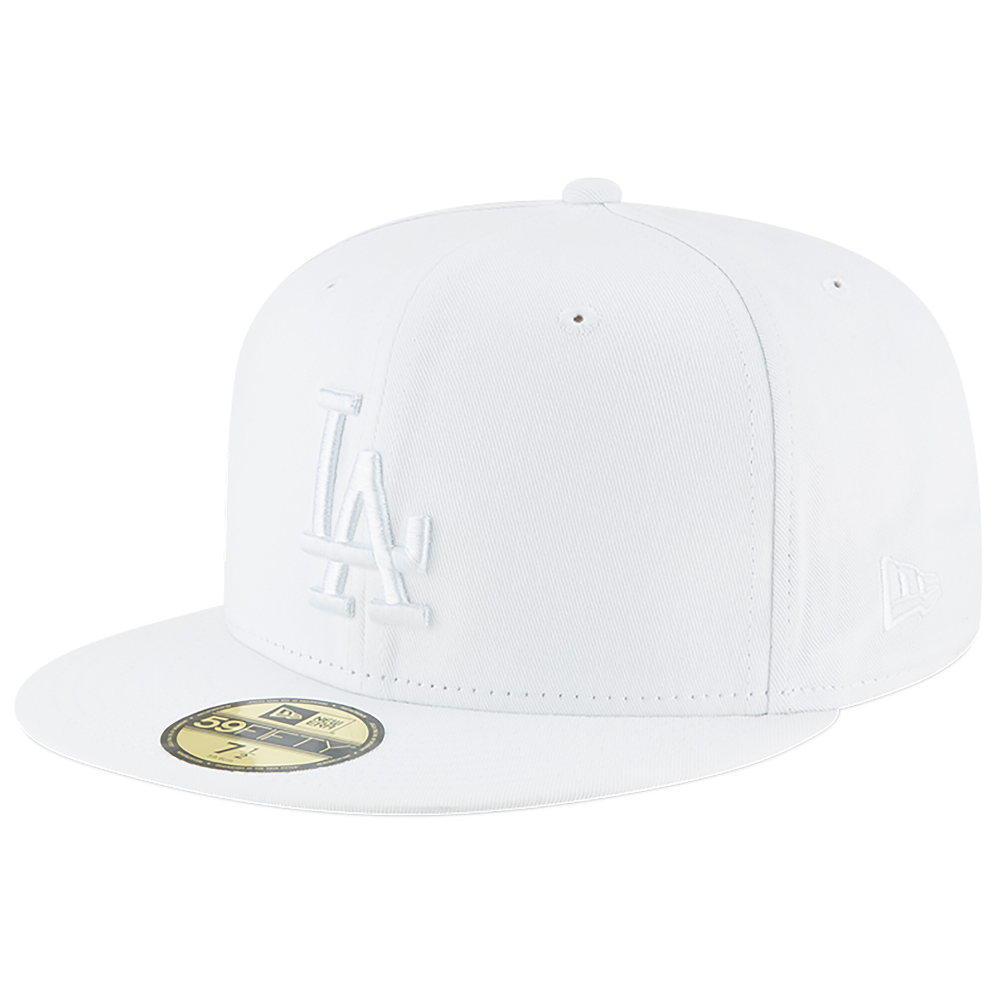 Los Angeles Dodgers New Era Primary Logo Basic 59FIFTY Fitted Hat - White