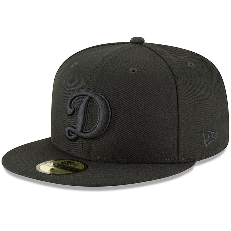 Los Angeles Dodgers New Era Secondary Logo Basic 59FIFTY Fitted Hat - Black