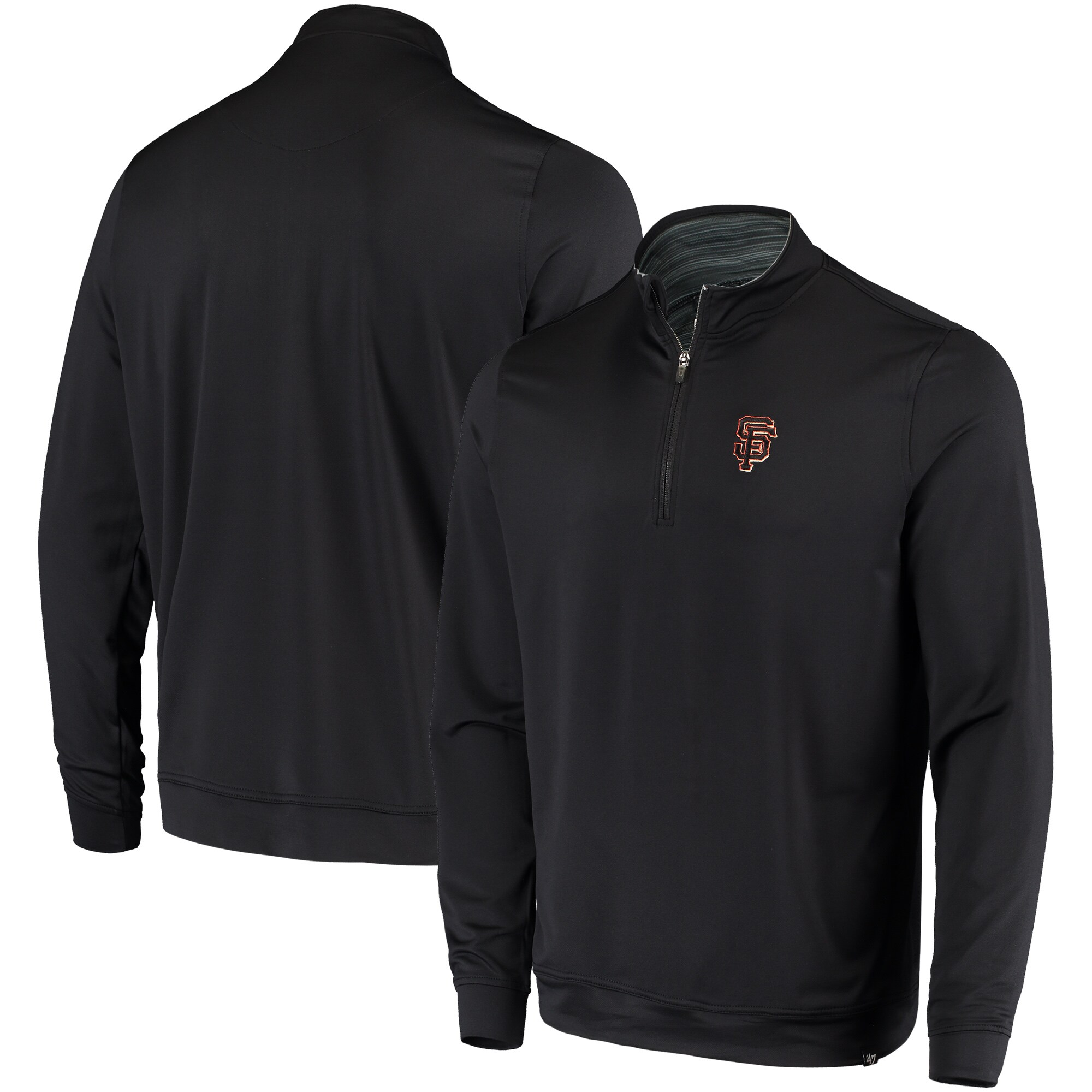 San Francisco Giants '47 Relay Fleece Pullover Sweatshirt - Black
