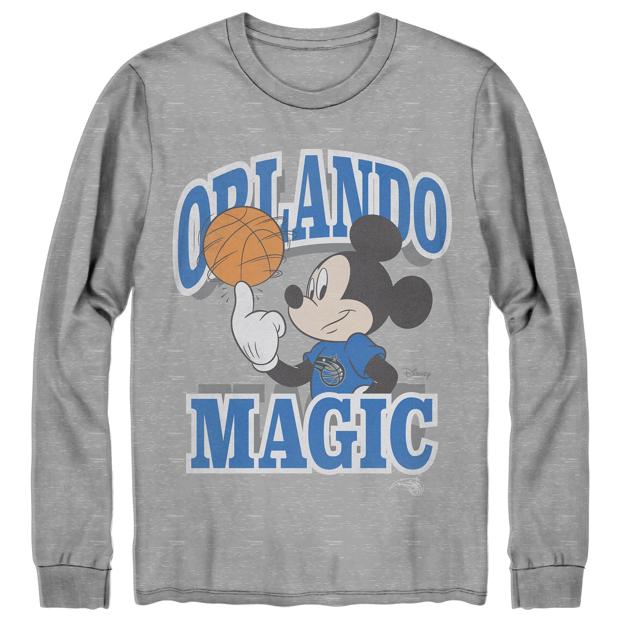 Orlando Magic Junk Food Disney Mickey Team Spirit Long Sleeve T-Shirt - Gray