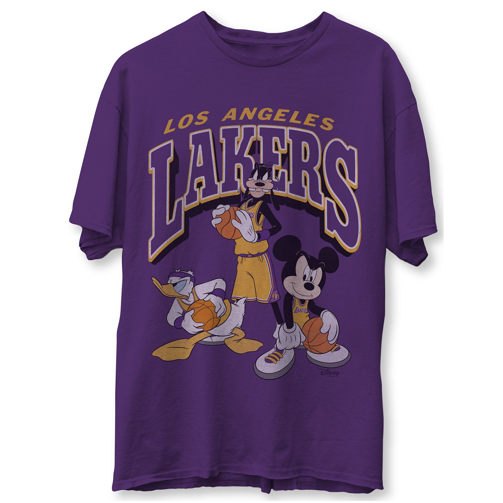 Los Angeles Lakers Junk Food Disney Mickey Squad T-Shirt - Purple