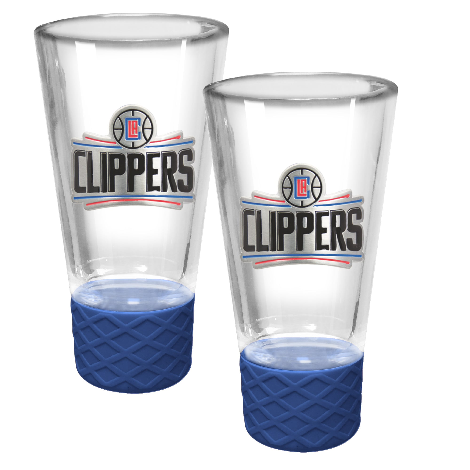 LA Clippers 2-Pack Cheer Shot Set with Silicone Grip