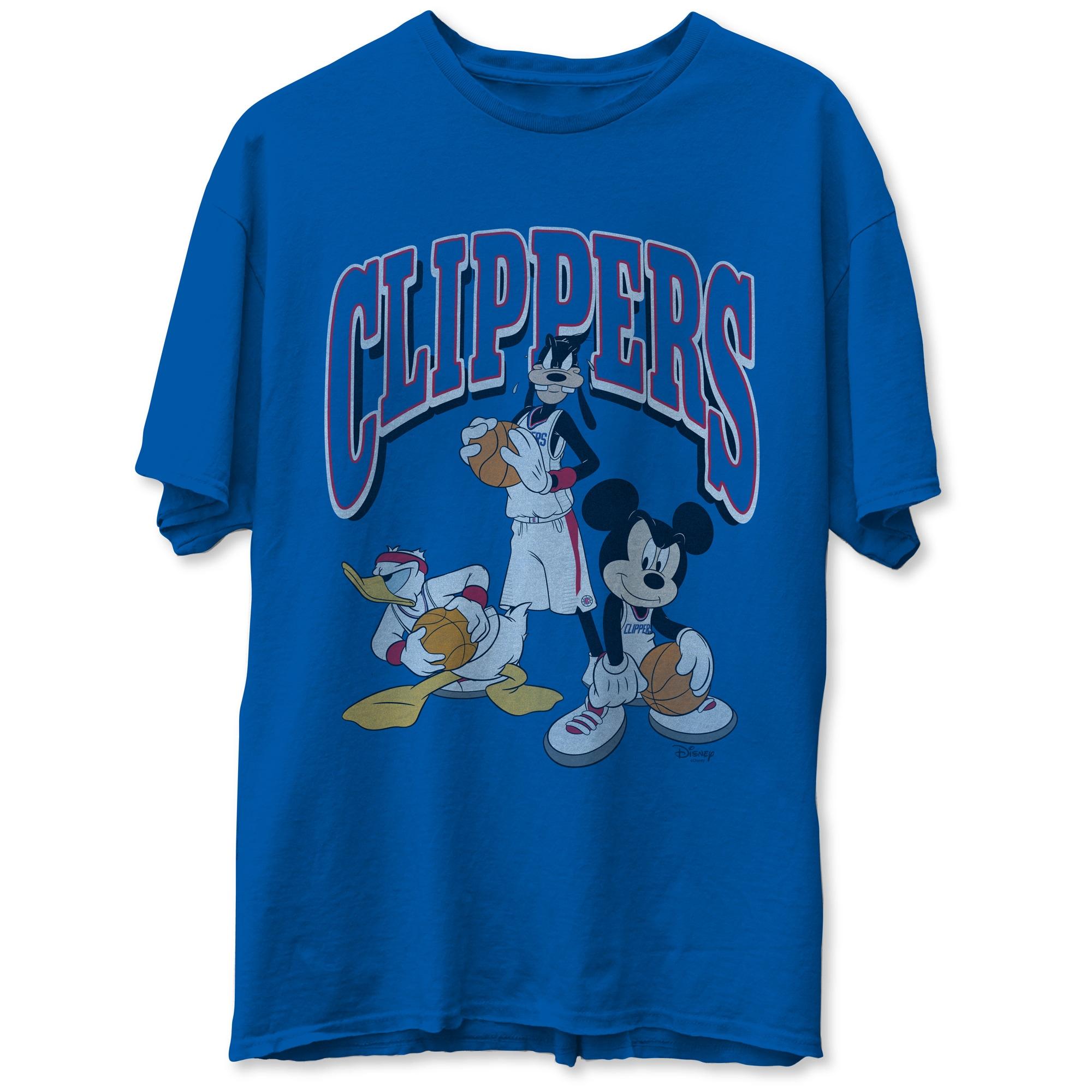 LA Clippers Junk Food Disney Mickey Squad T-Shirt - Royal