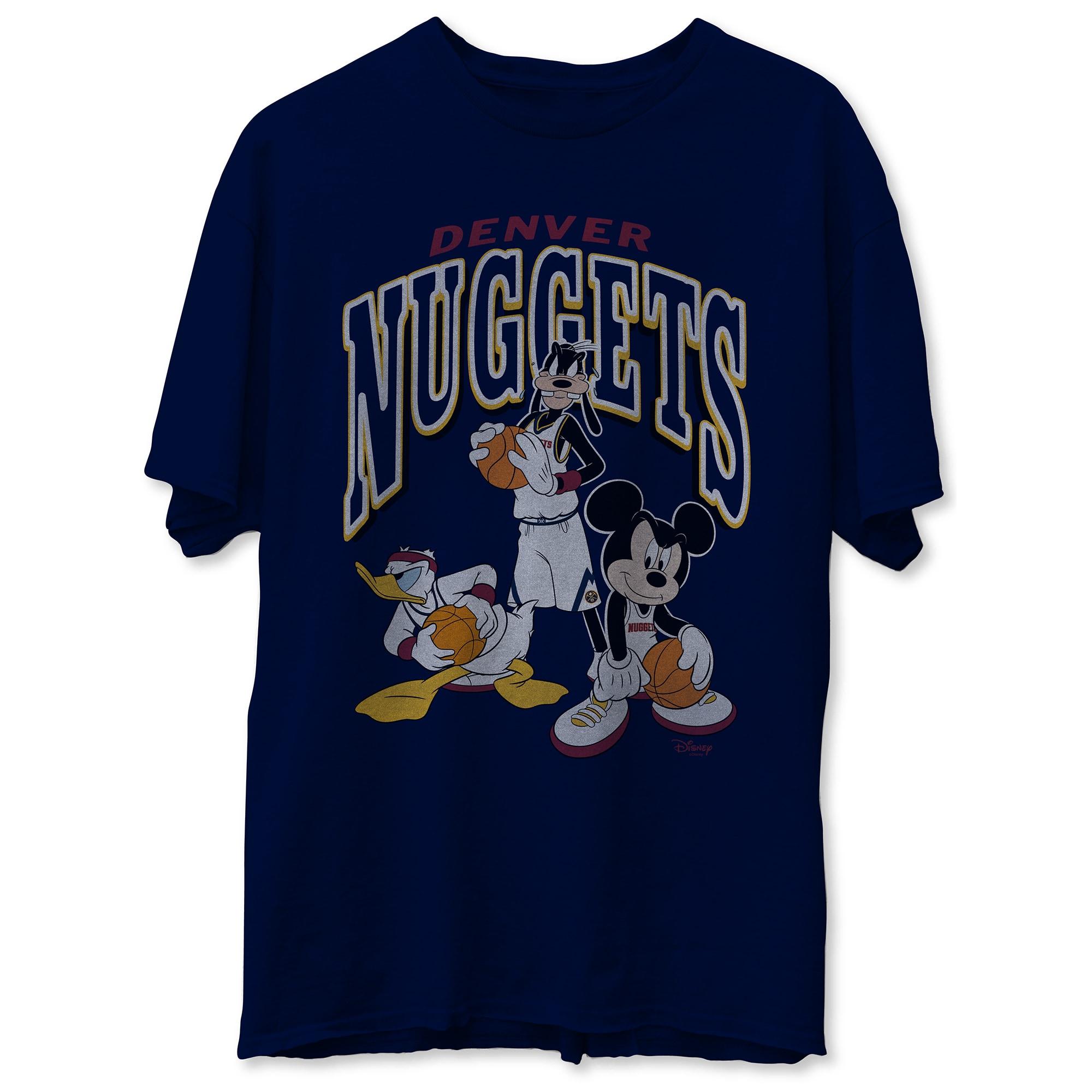 Denver Nuggets Junk Food Disney Mickey Squad T-Shirt - Navy