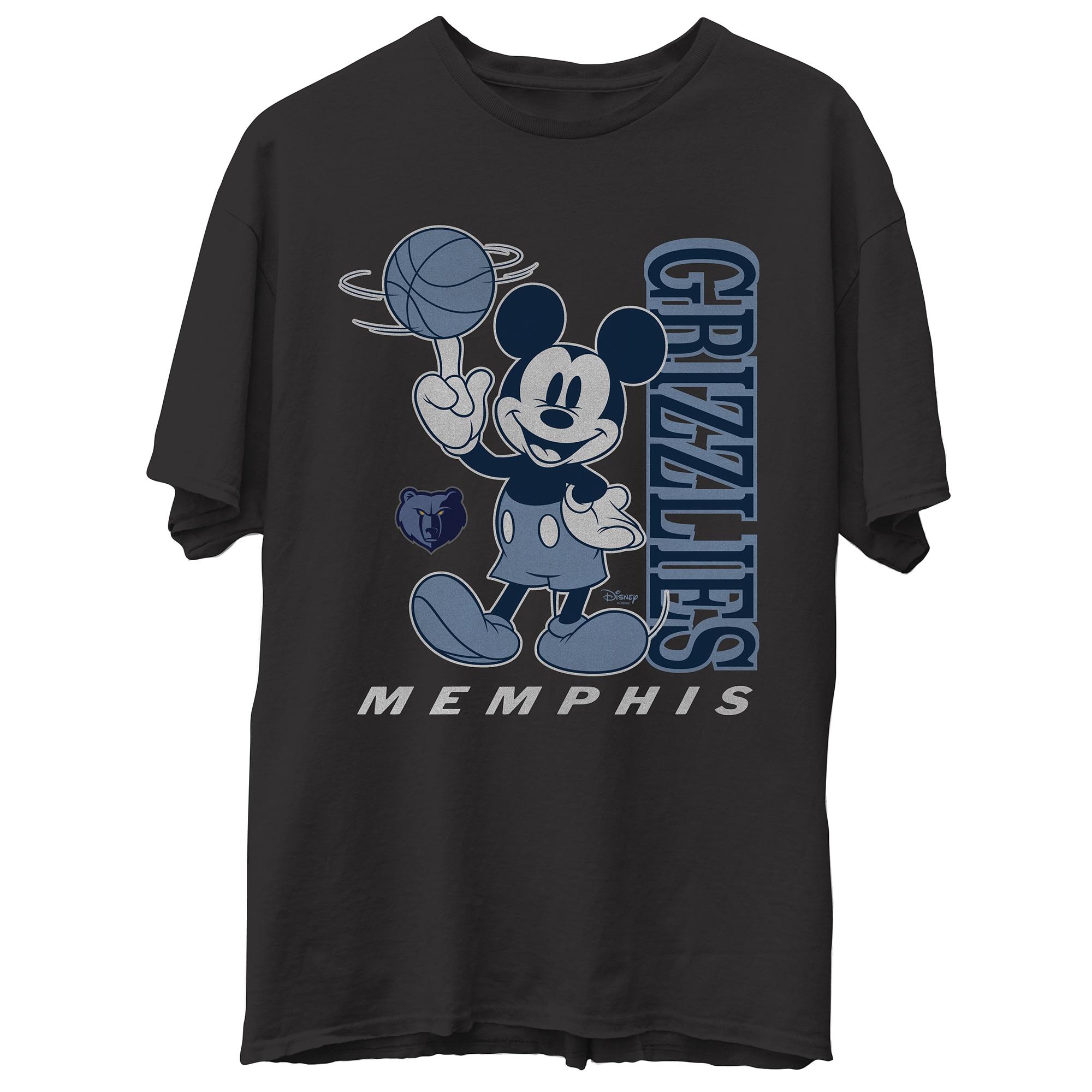 Memphis Grizzlies Junk Food Disney Vintage Mickey Baller T-Shirt - Black