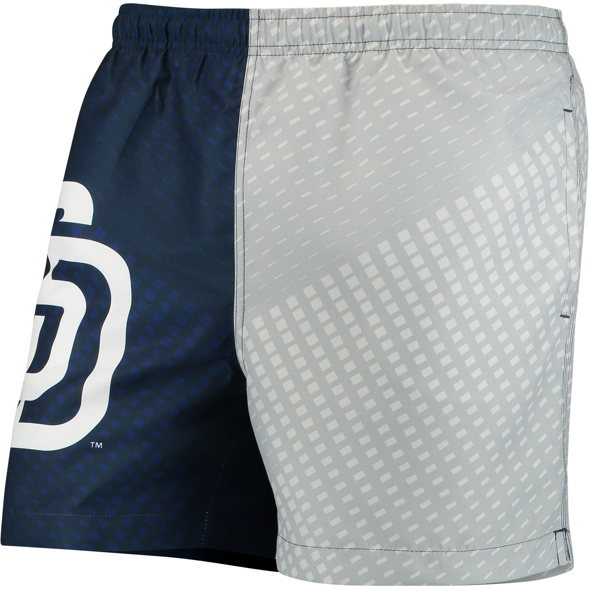 San Diego Padres Color Block Swim Trunks - Navy/Gray