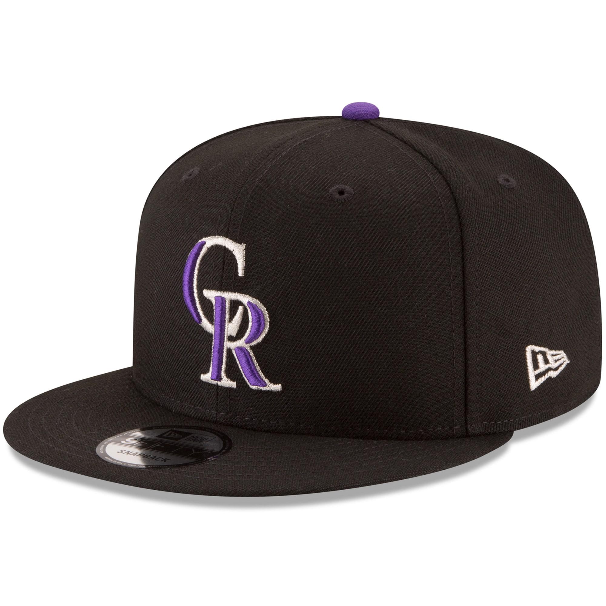 Colorado Rockies New Era Team Color 9FIFTY Snapback Hat - Black