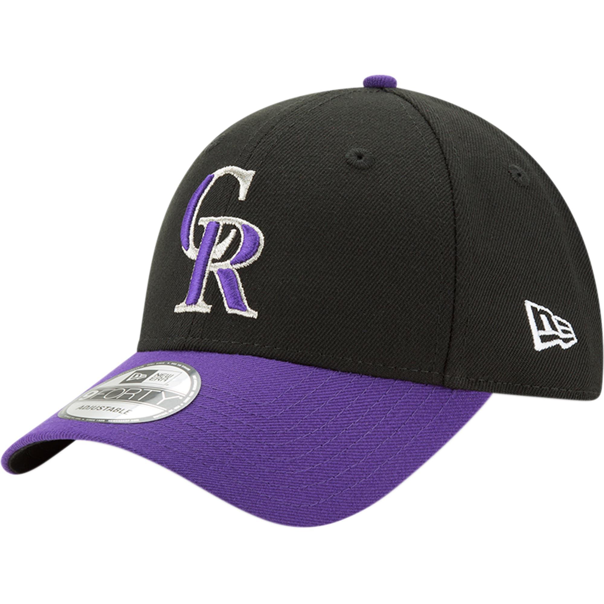 Colorado Rockies New Era Alternate The League 9FORTY Adjustable Hat - Black/Purple