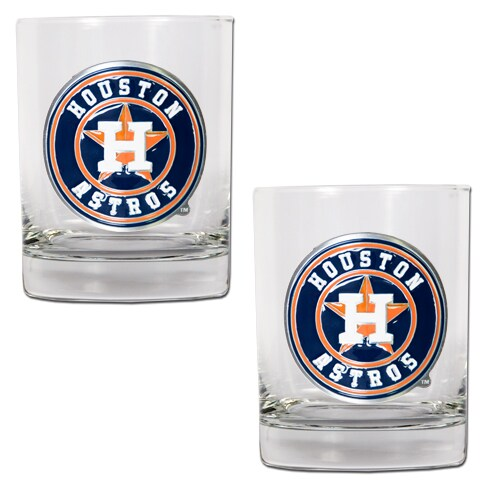 Houston Astros 14oz. Rocks Glass Set