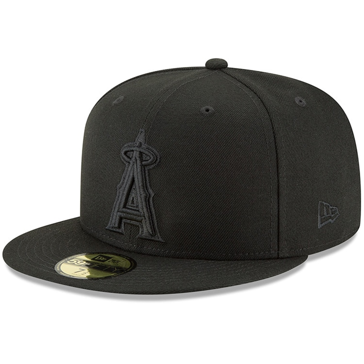 Los Angeles Angels New Era Primary Logo Basic 59FIFTY Fitted Hat - Black