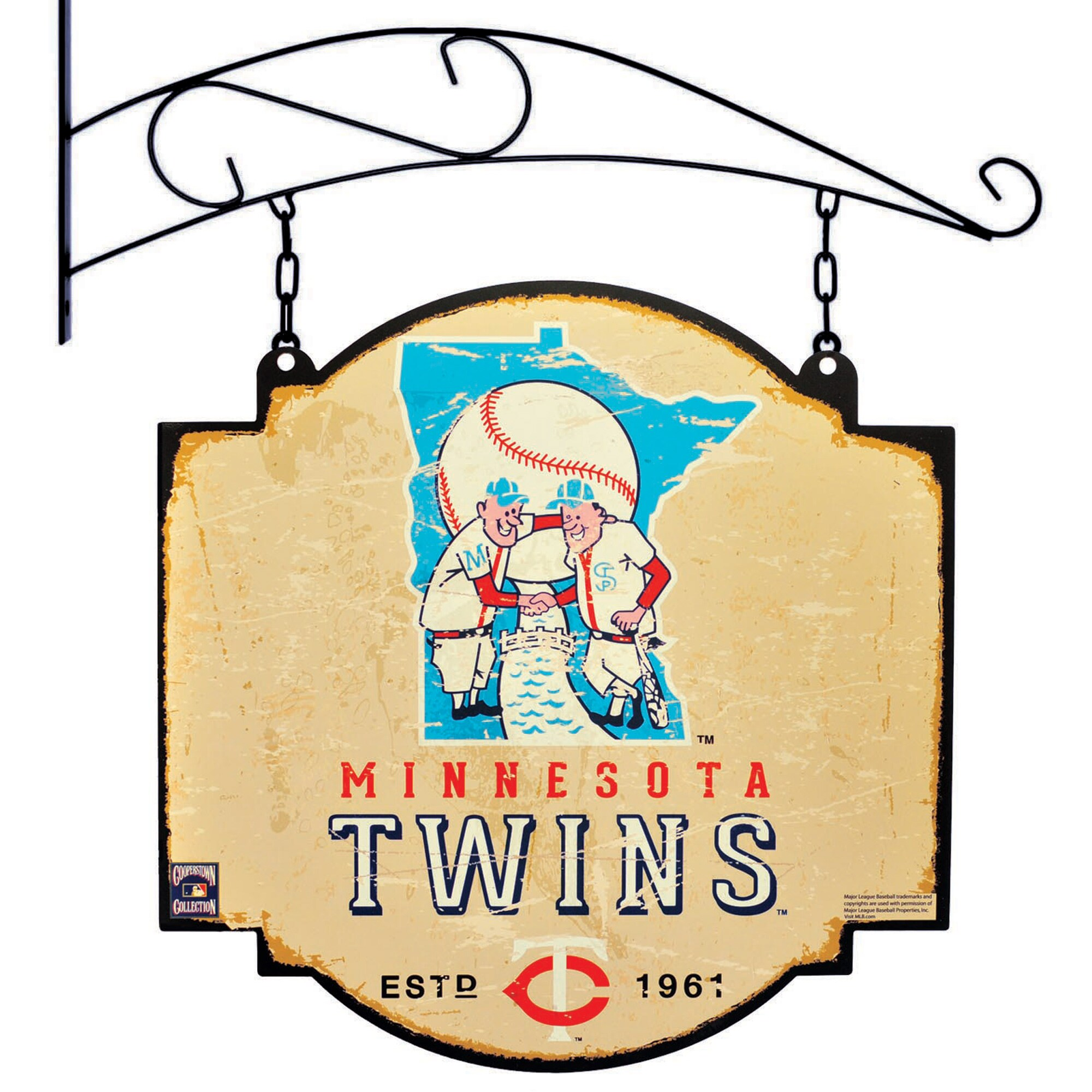 "Minnesota Twins 16"" x 16"" Tavern Sign - Cream"