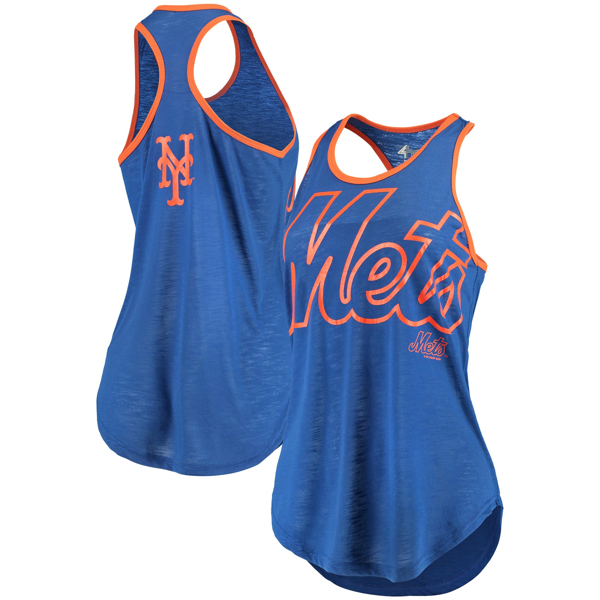 New York Mets G-III 4Her by Carl Banks Women's Game Time Tank Top - Royal/Orange