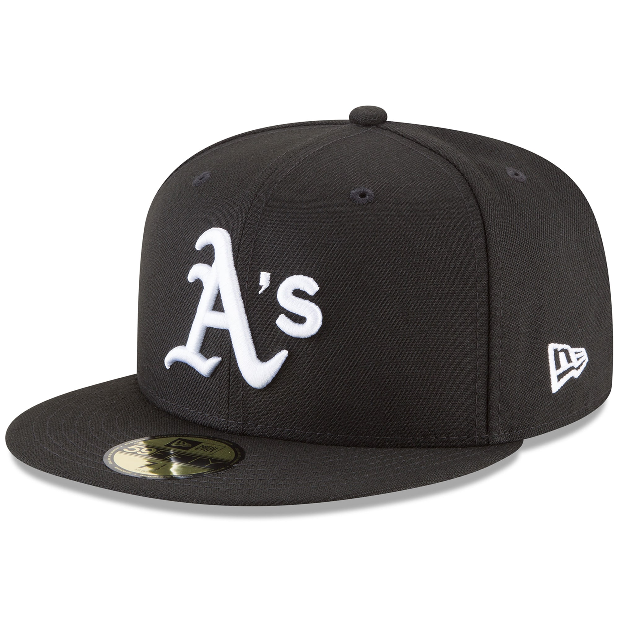 Oakland Athletics New Era 59FIFTY Fitted Hat - Black