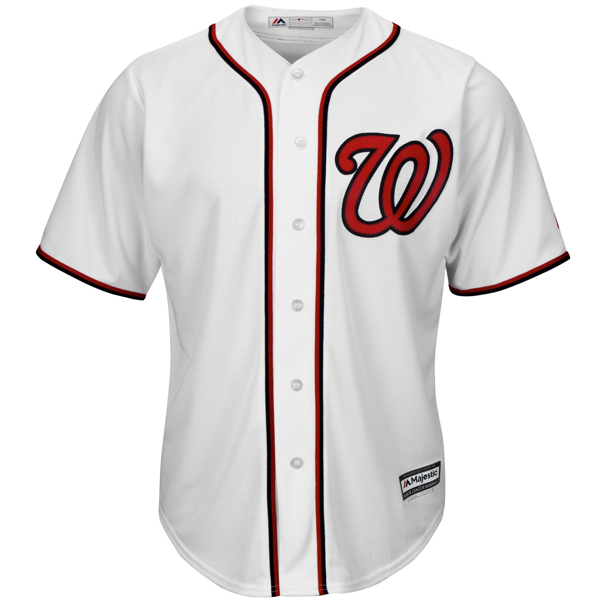 Washington Nationals Majestic Official Cool Base Jersey - White