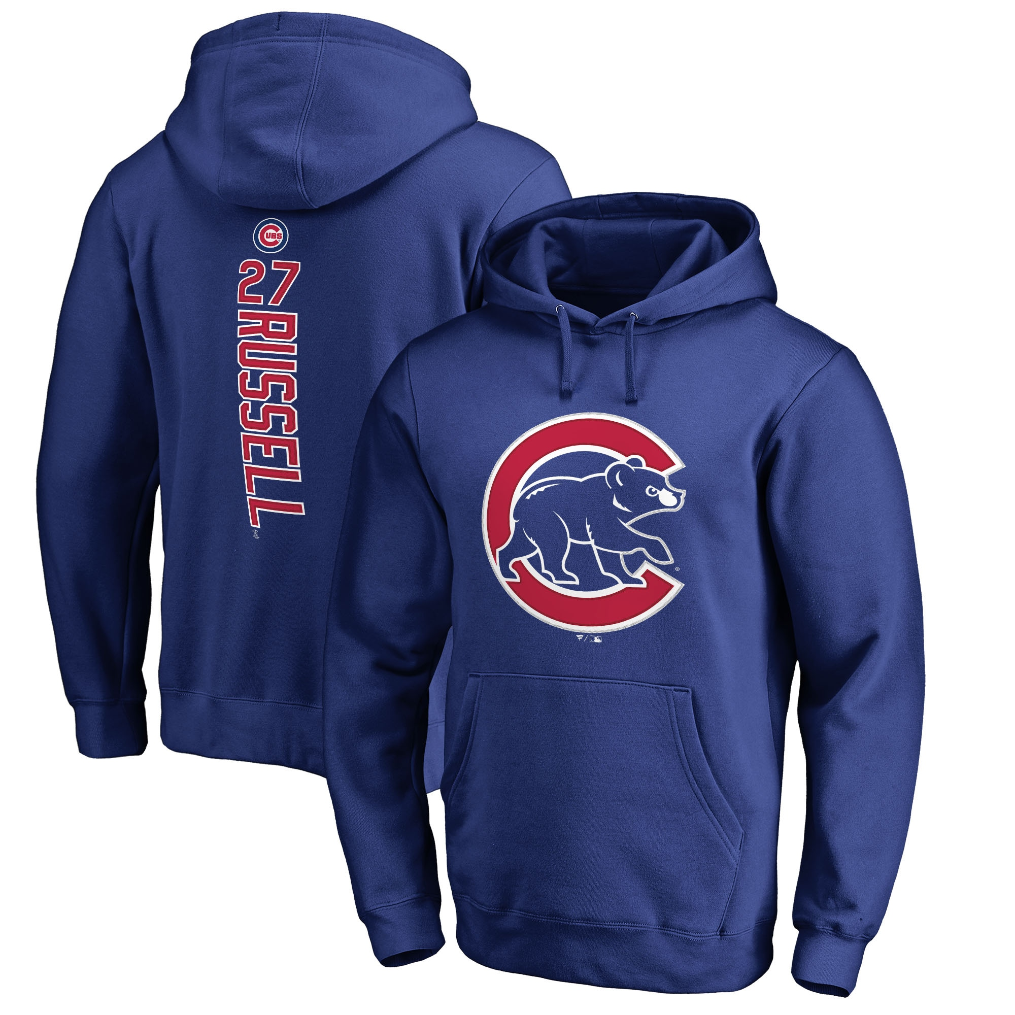 Addison Russell Chicago Cubs Fanatics Branded Backer Pullover Hoodie - Royal