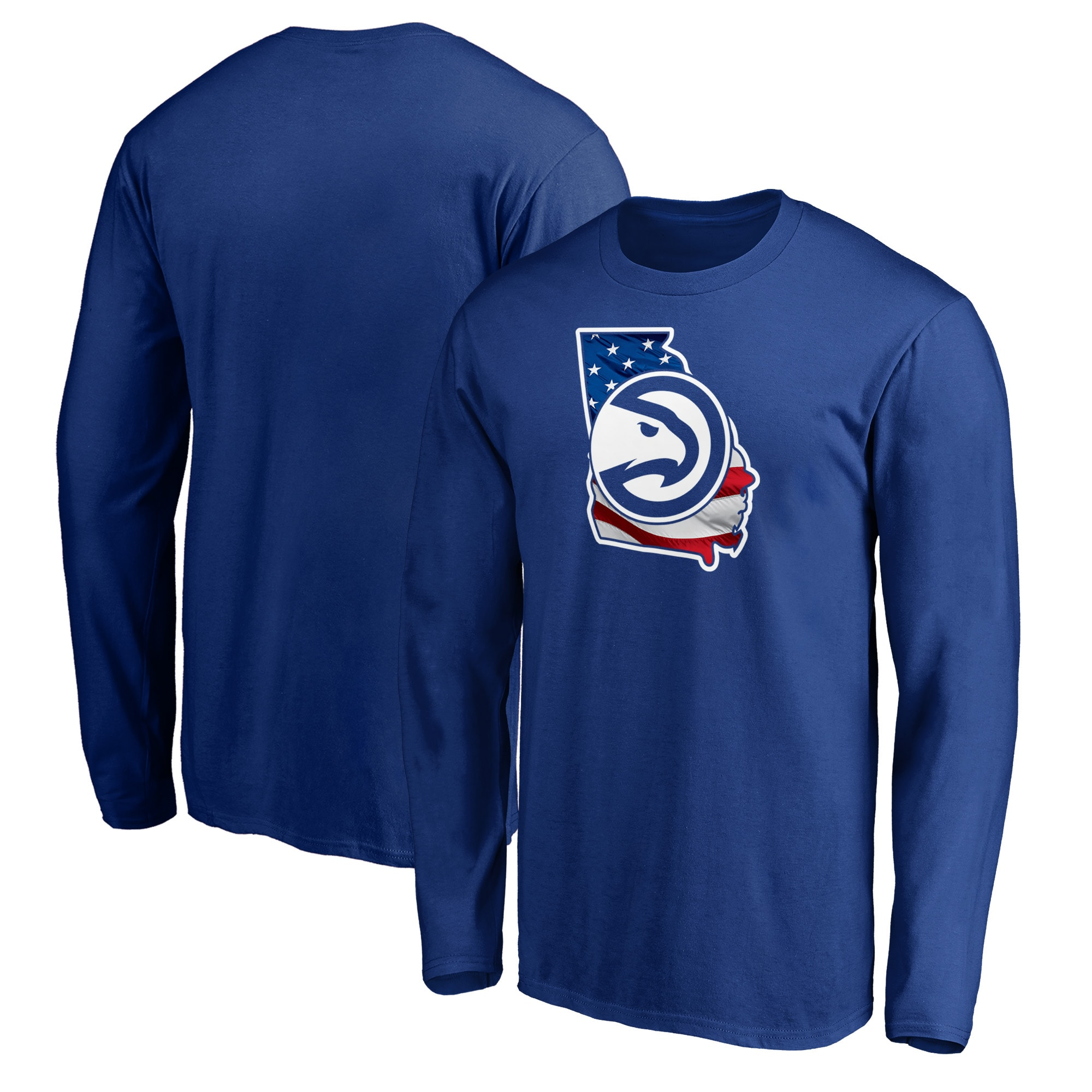 Atlanta Hawks Fanatics Branded Banner State Long Sleeve T-Shirt - Royal