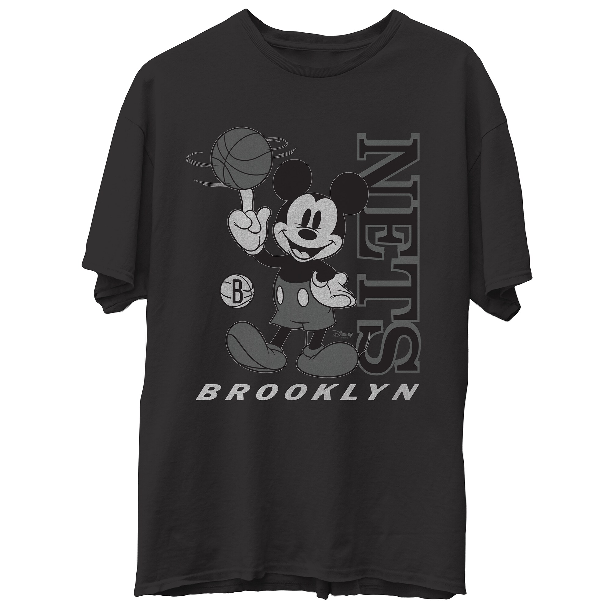 Brooklyn Nets Junk Food Disney Vintage Mickey Baller T-Shirt - Black