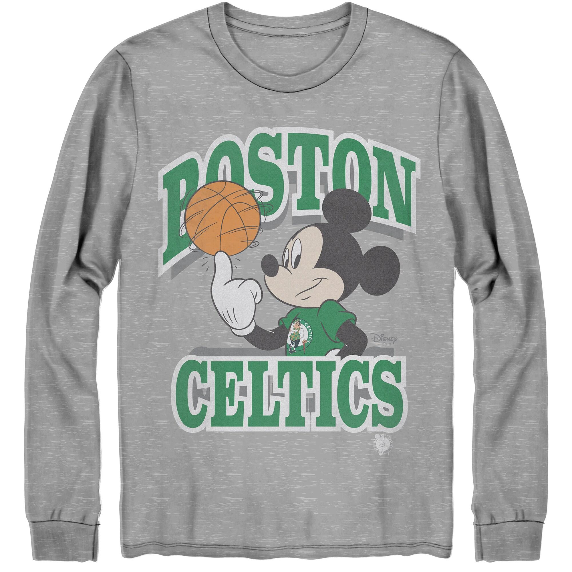 Boston Celtics Junk Food Disney Mickey Team Spirit Long Sleeve T-Shirt - Gray