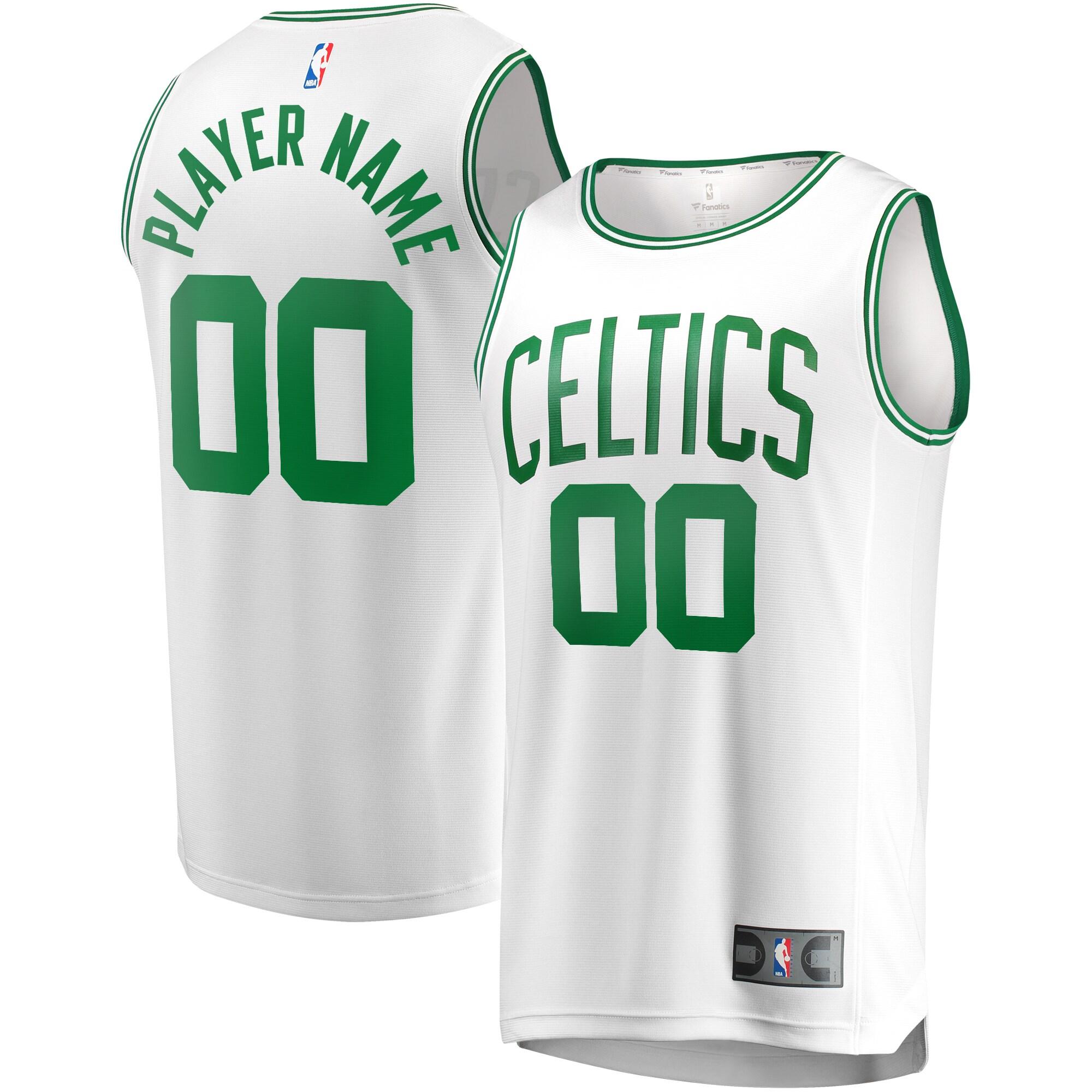 Boston Celtics Fanatics Branded Fast Break Custom Replica Jersey White - Association Edition