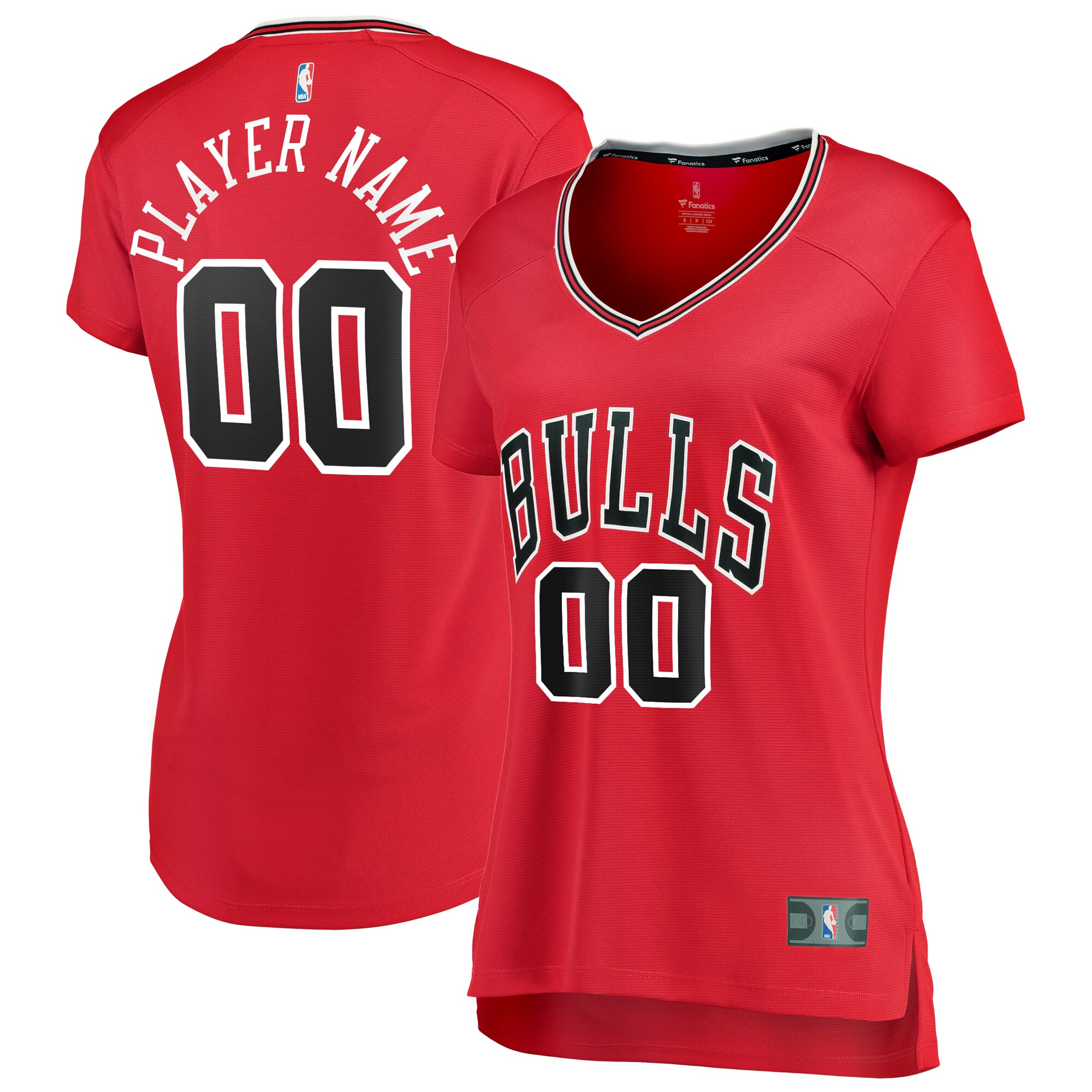 Chicago Bulls Fanatics Branded Women's Fast Break Custom Jersey Red - Icon Edition