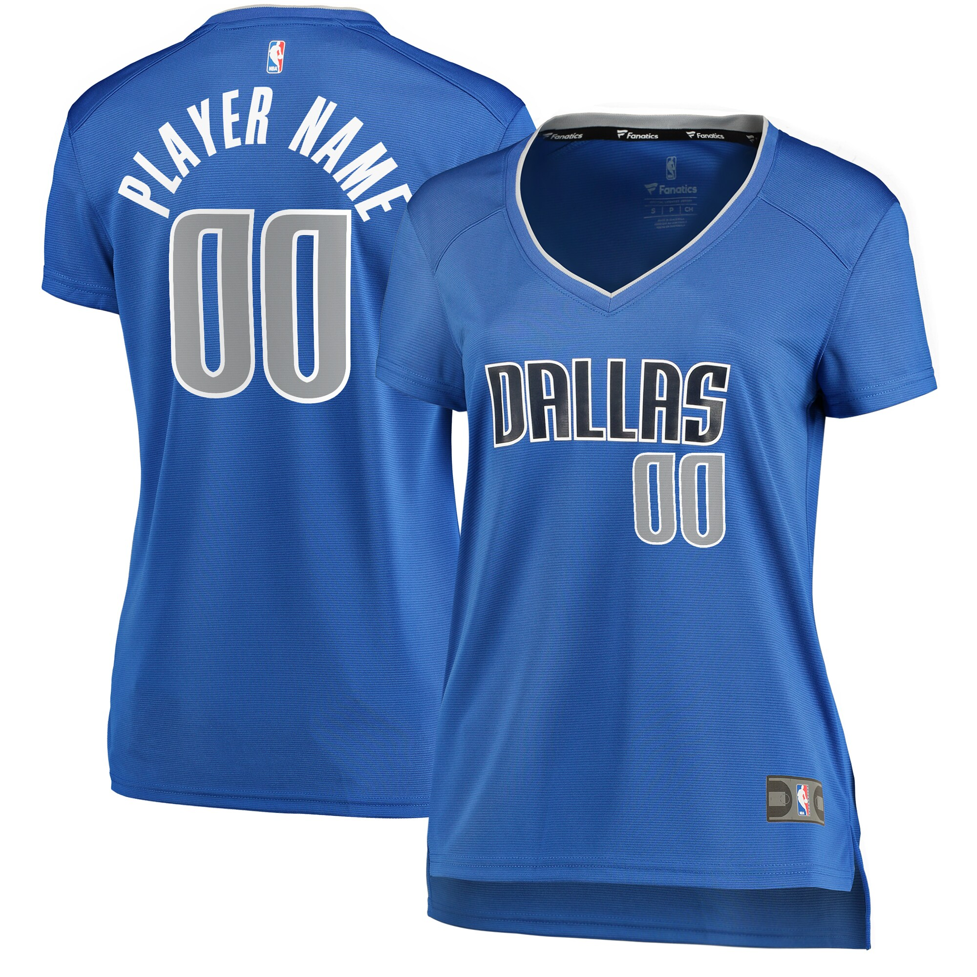 Dallas Mavericks Fanatics Branded Women's Fast Break Custom Jersey Royal - Icon Edition