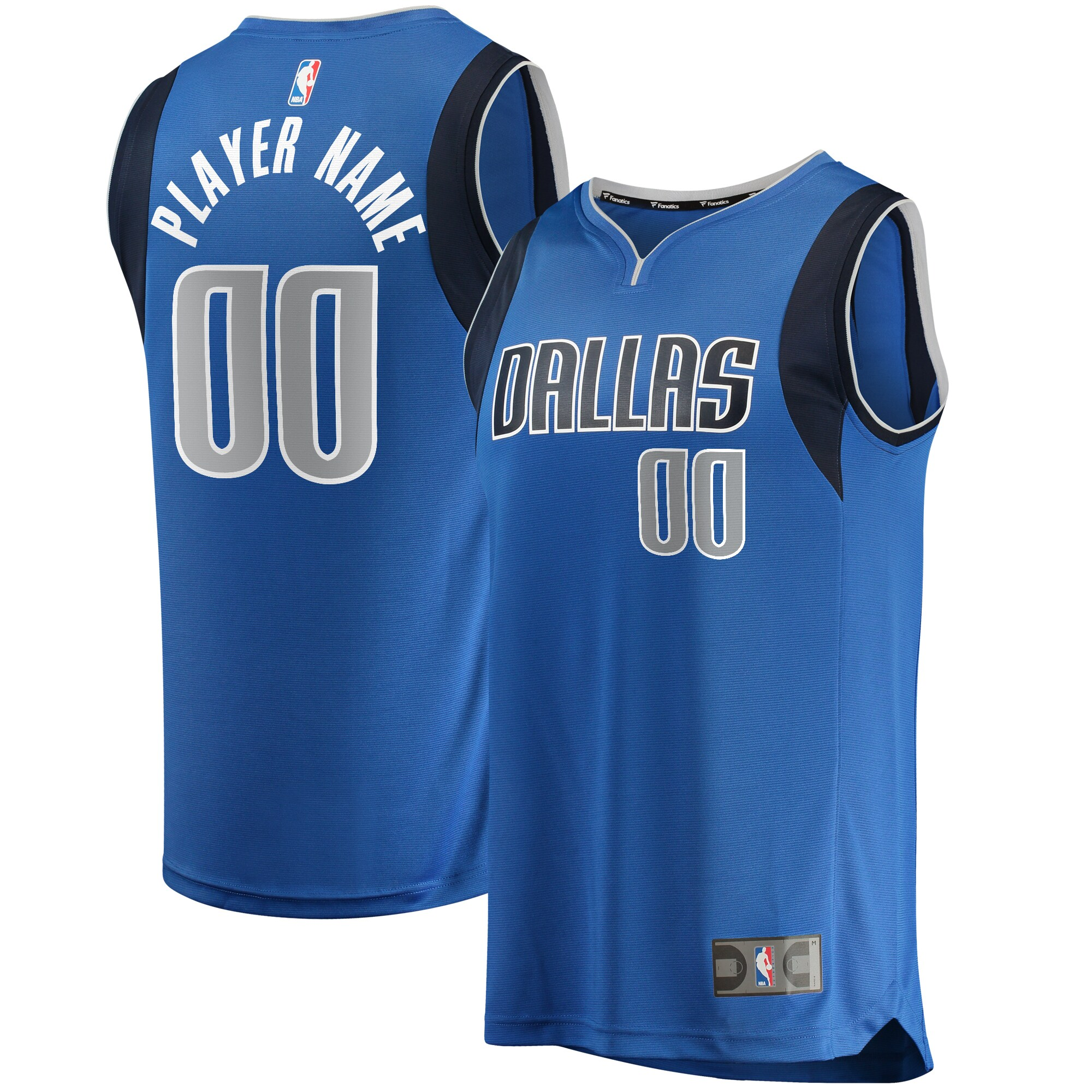 Dallas Mavericks Fanatics Branded Fast Break Custom Replica Jersey Blue - Icon Edition