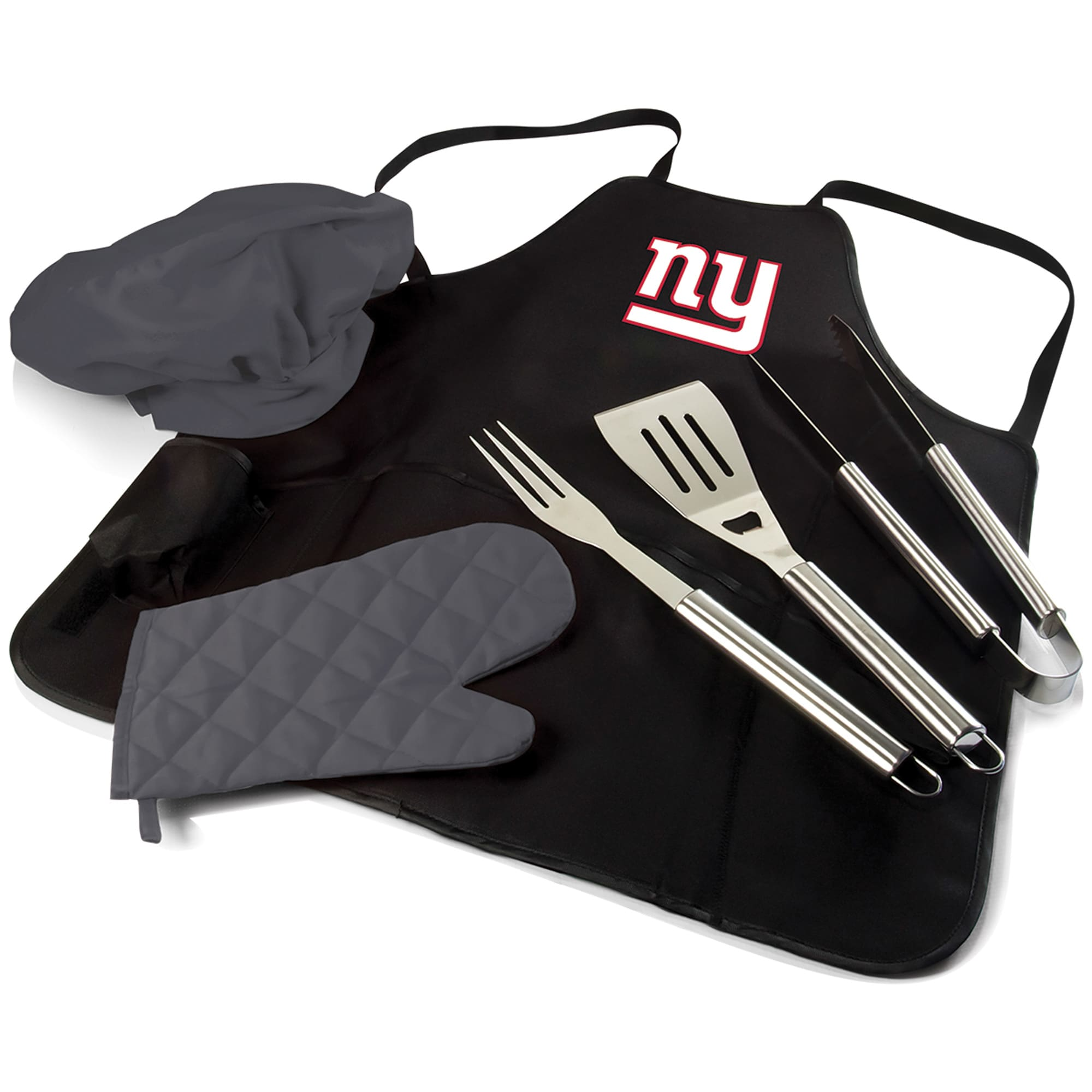 New York Giants BBQ Apron Tote Pro Grill Set