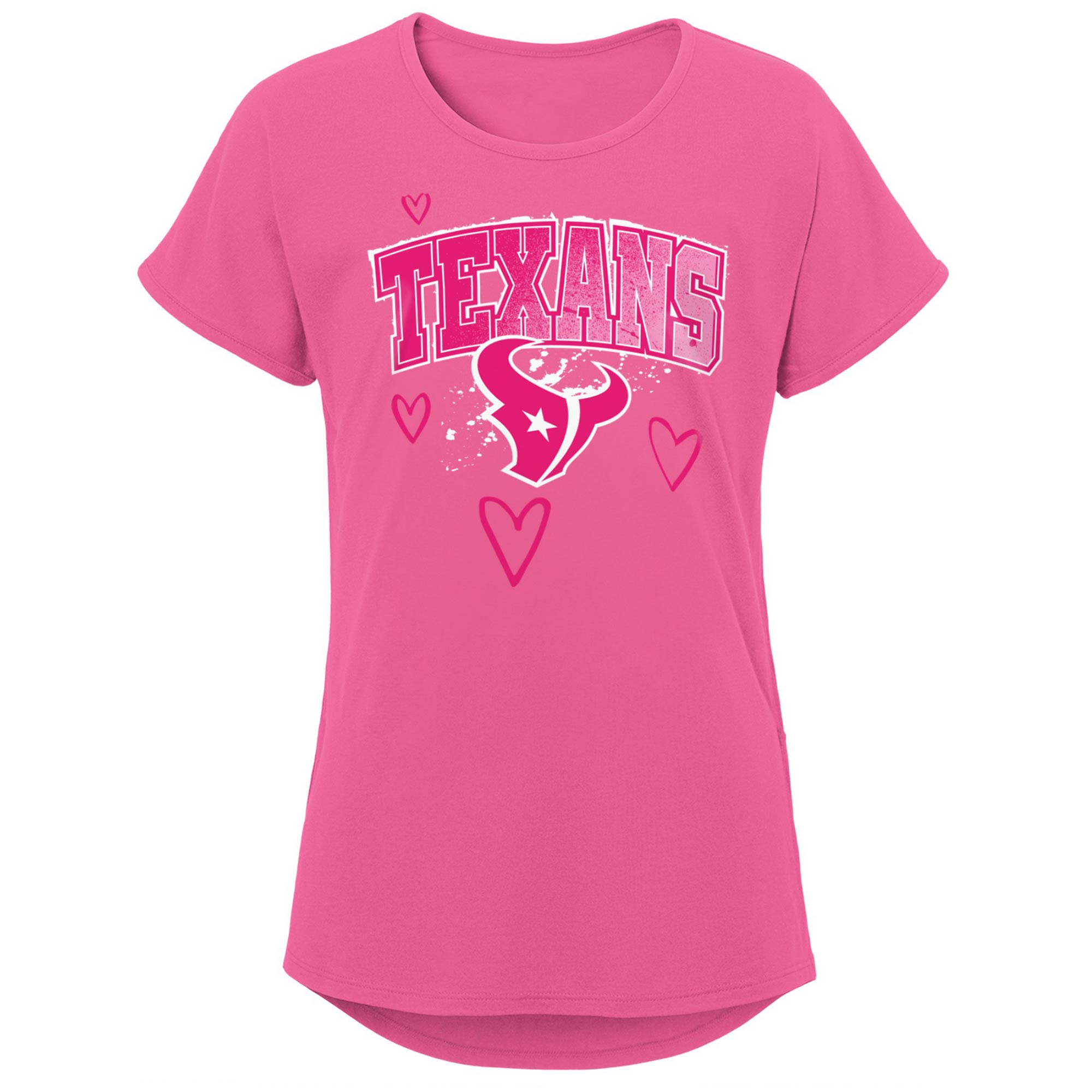 Houston Texans Girls Youth Go-Getter T-Shirt - Pink