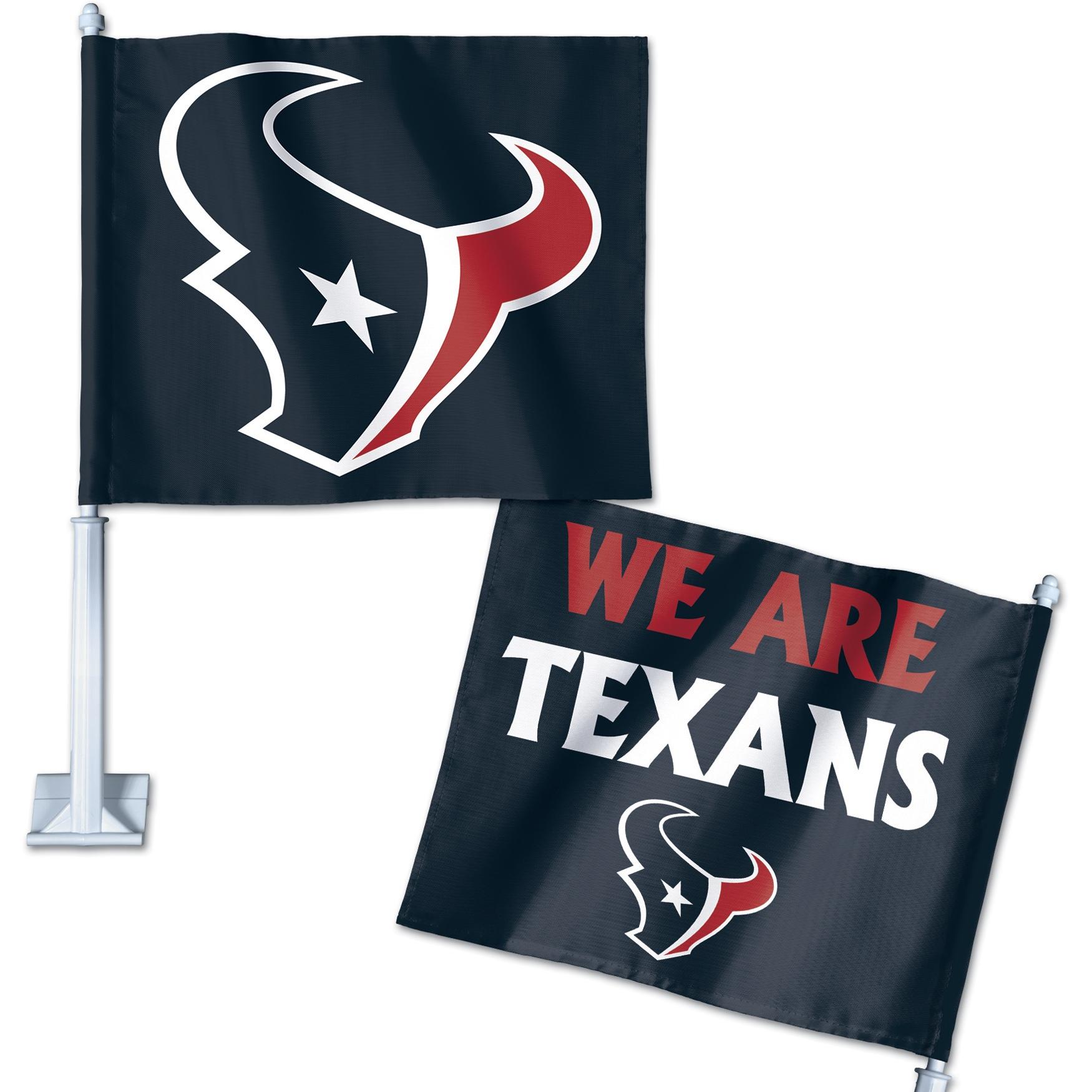 Houston Texans WinCraft Double-Sided Slogan Car Flag
