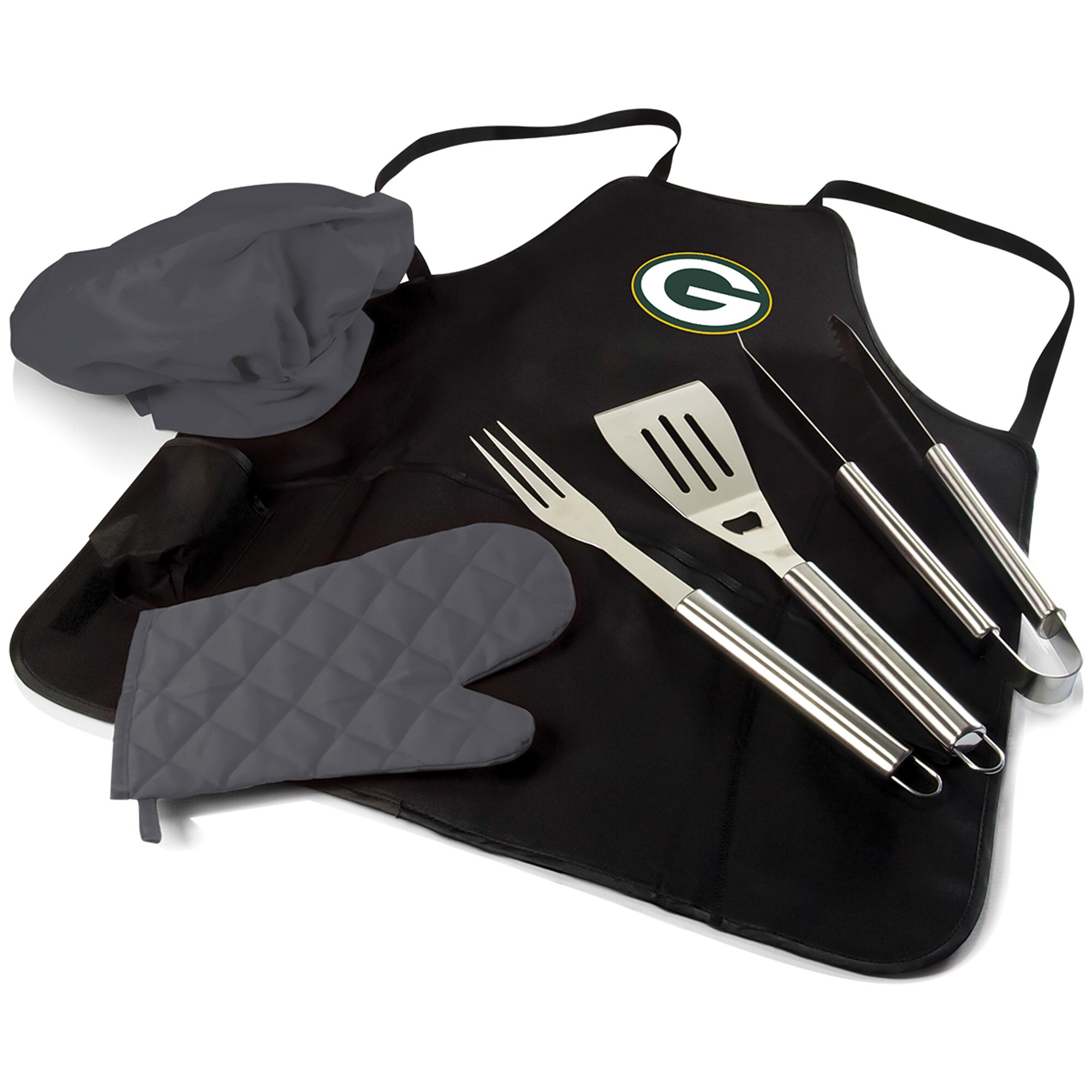 Green Bay Packers BBQ Apron Tote Pro Grill Set
