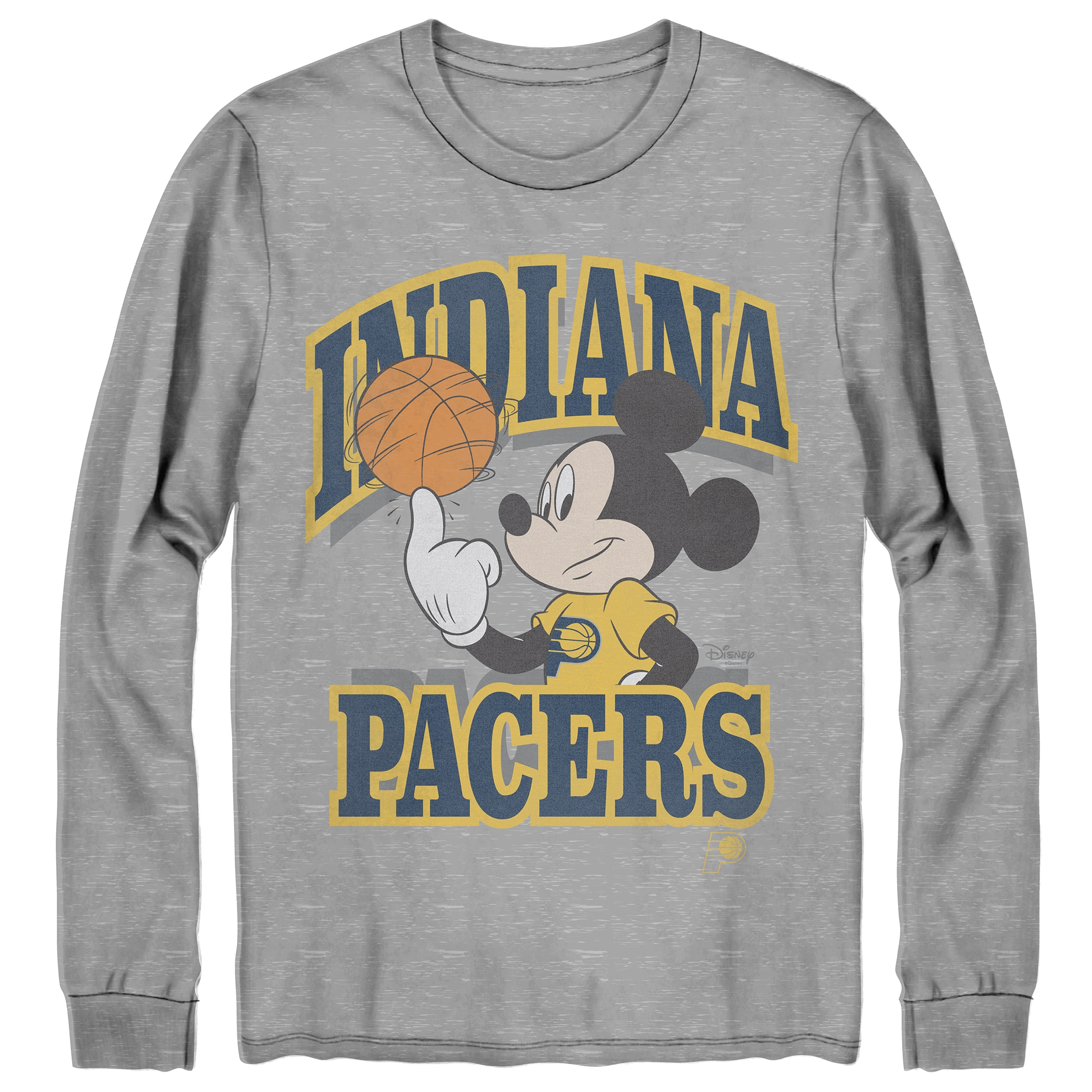 Indiana Pacers Junk Food Disney Mickey Team Spirit Long Sleeve T-Shirt - Gray