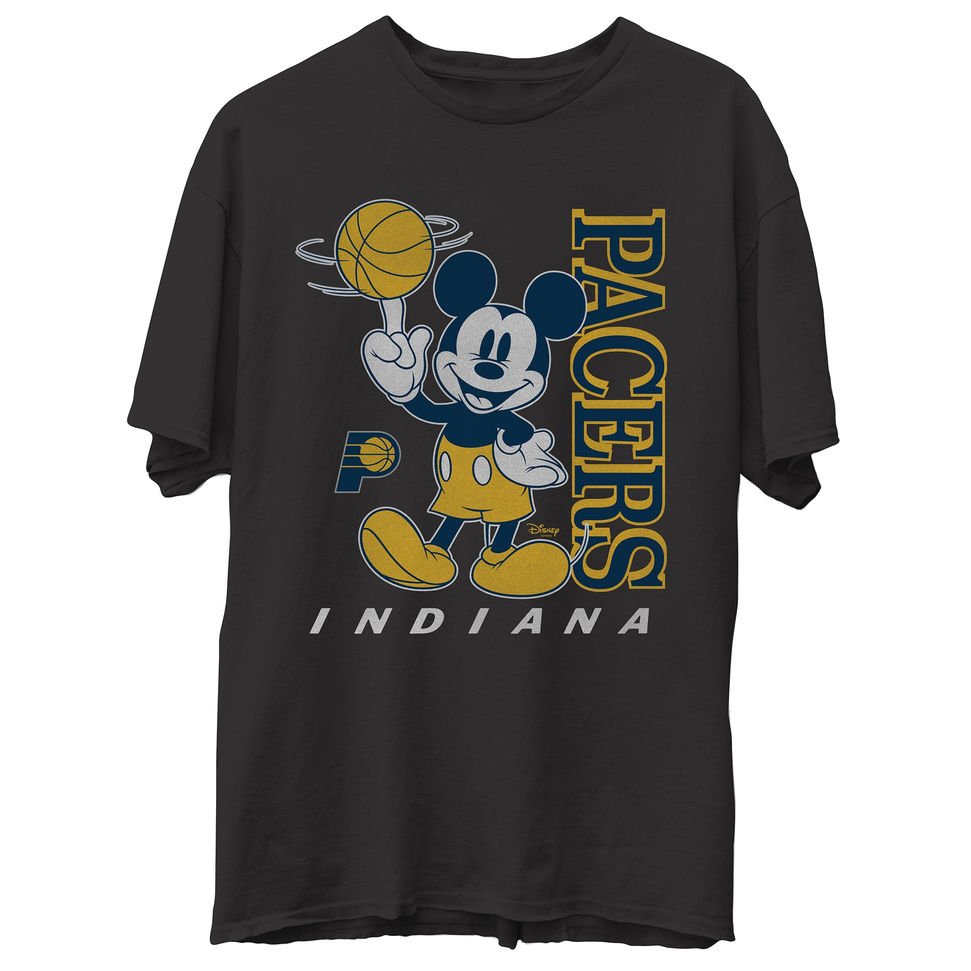 Indiana Pacers Junk Food Disney Vintage Mickey Baller T-Shirt - Black
