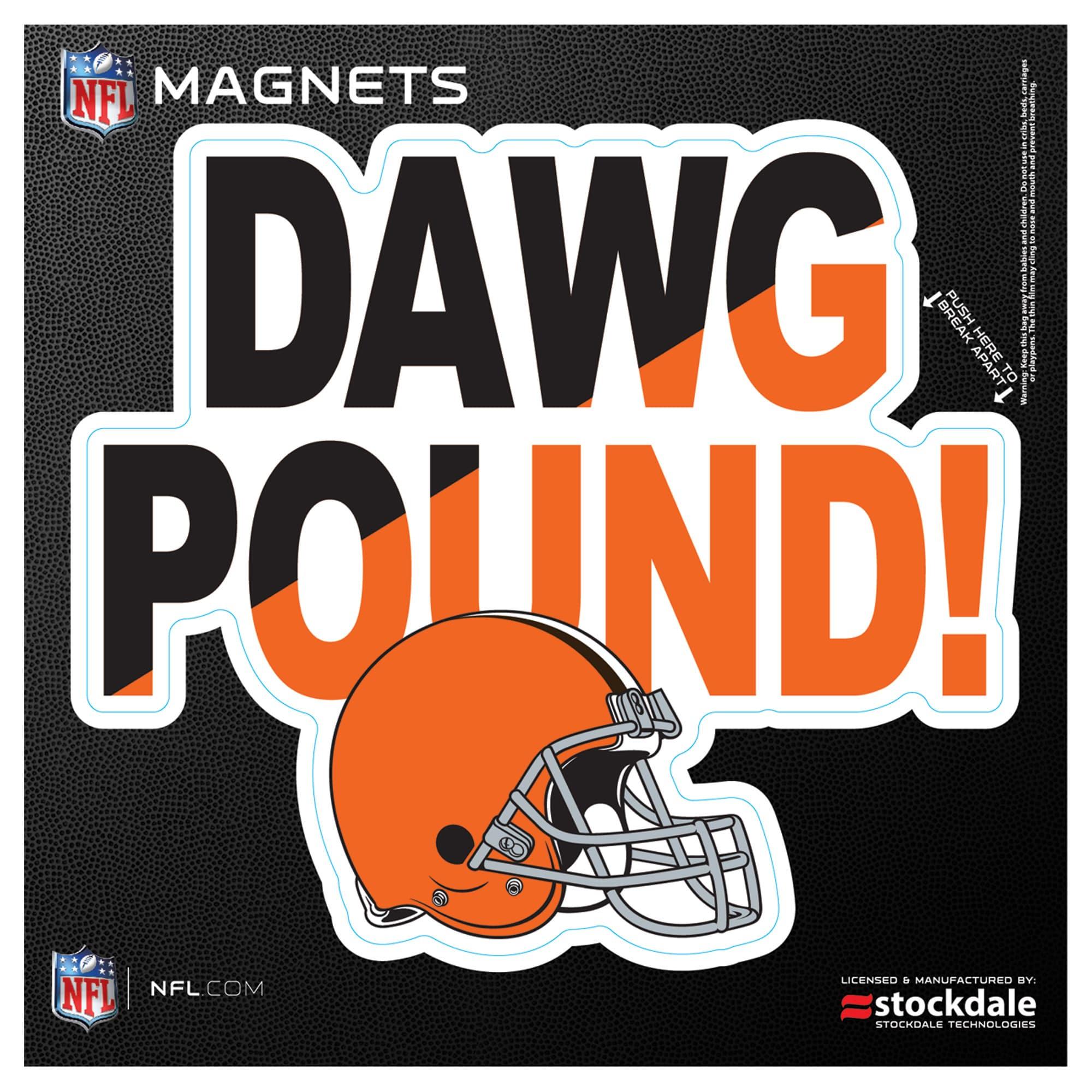 "Cleveland Browns 6"" x 6"" Xpression Logo Full Color Car Magnet"