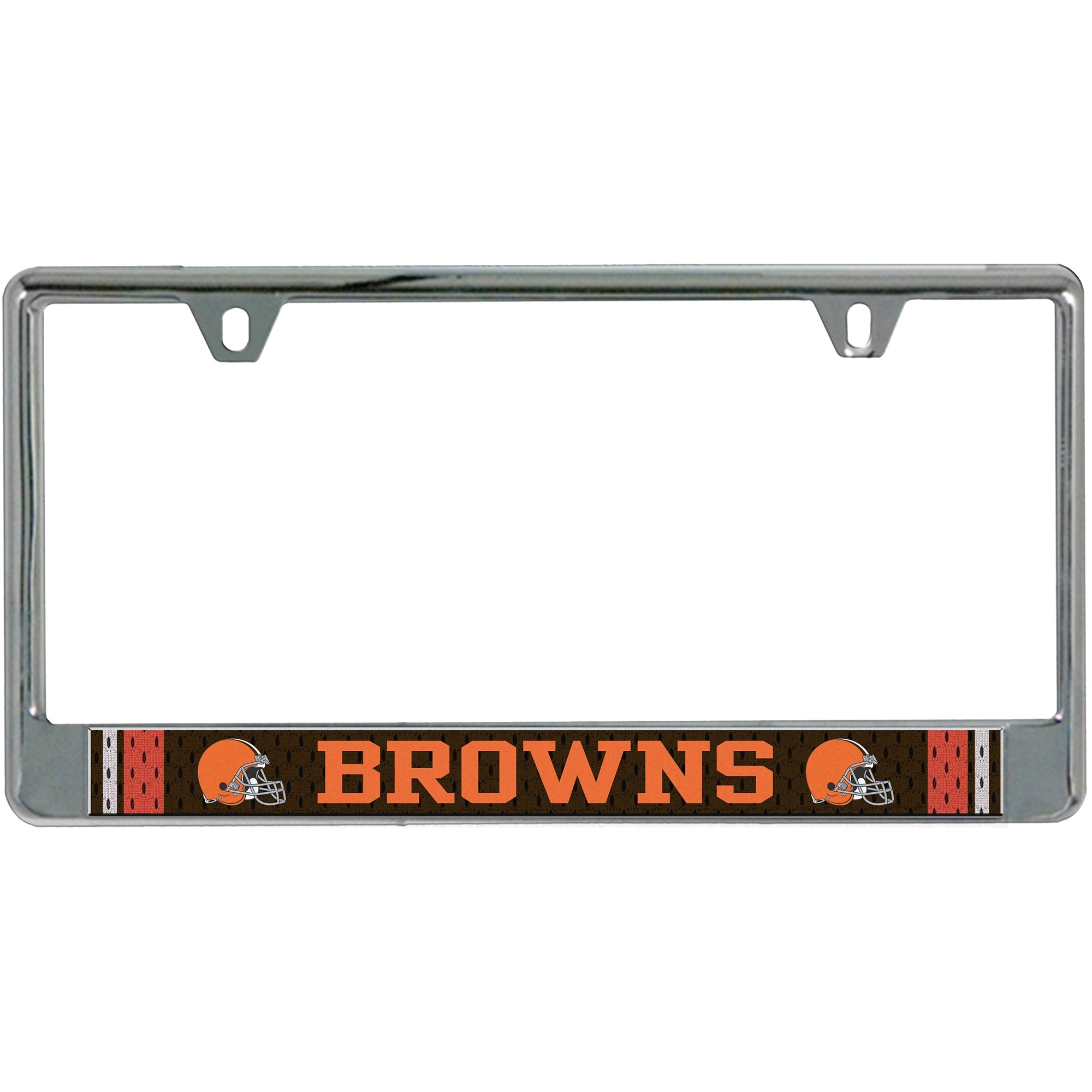 Cleveland Browns Jersey Bottom Only Metal Acrylic Cut License Plate Frame