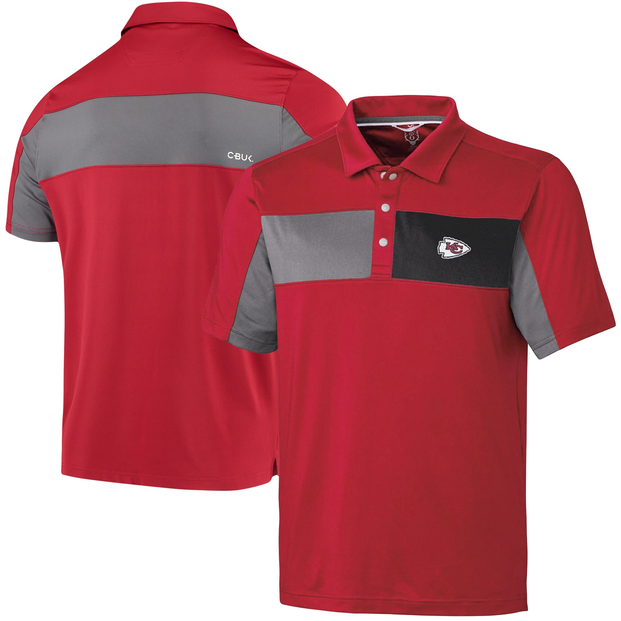 Kansas City Chiefs CBUK by Cutter & Buck Logan Polo - Red