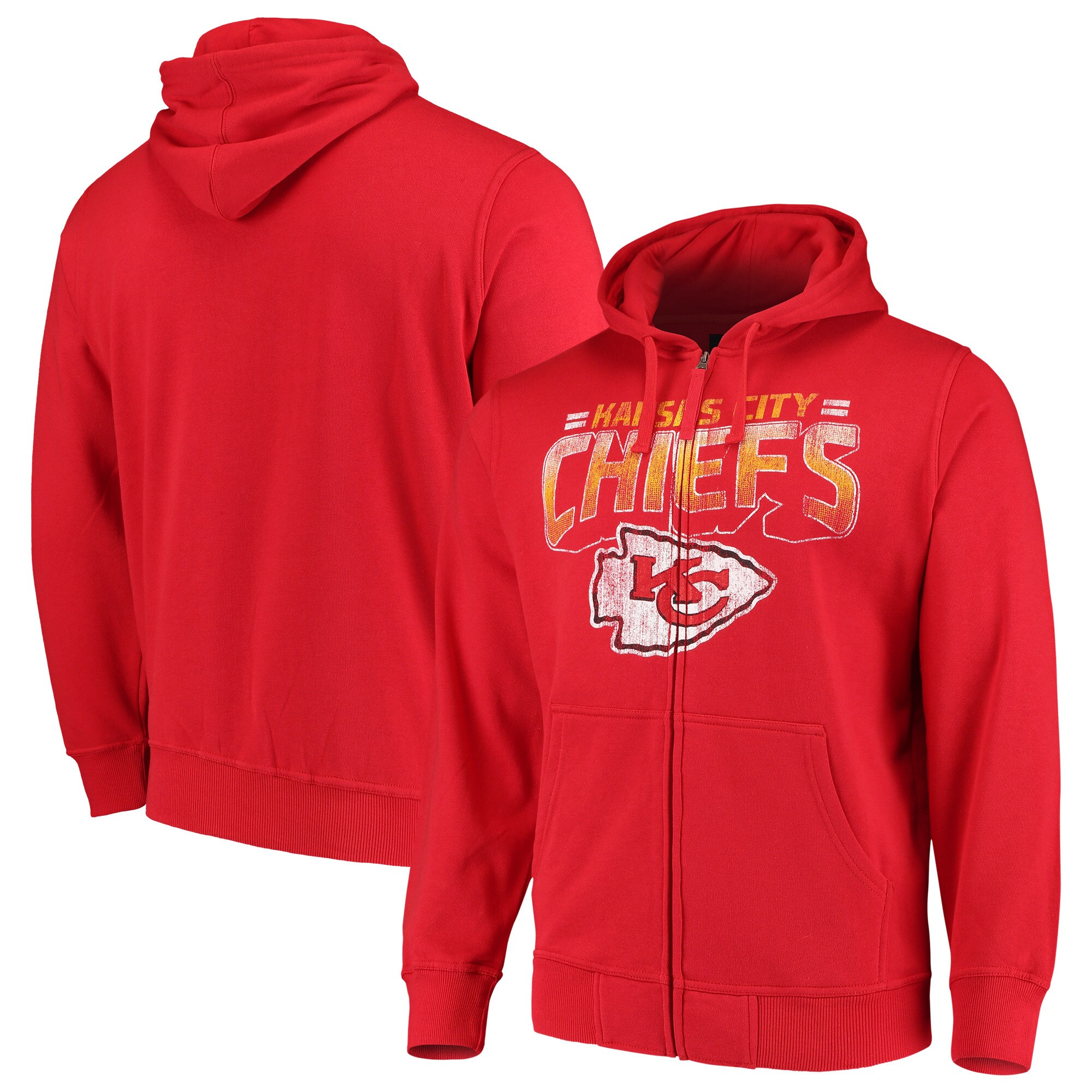 Kansas City Chiefs G-III Sports by Carl Banks Perfect Season Full-Zip Hoodie - Red
