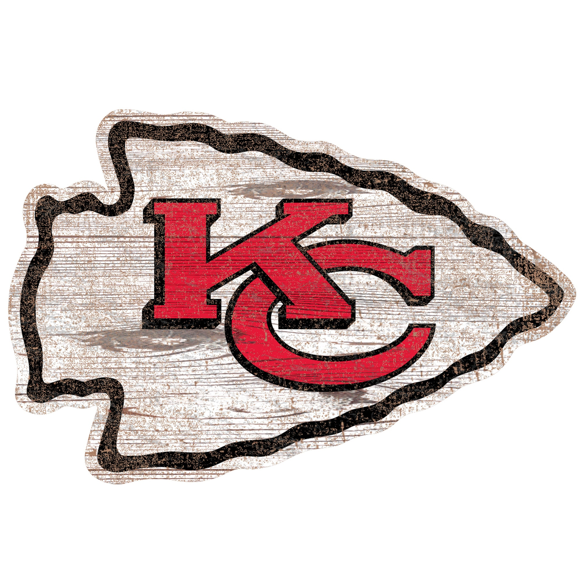 Kansas City Chiefs 24'' x 24'' Distressed Logo Cutout Sign