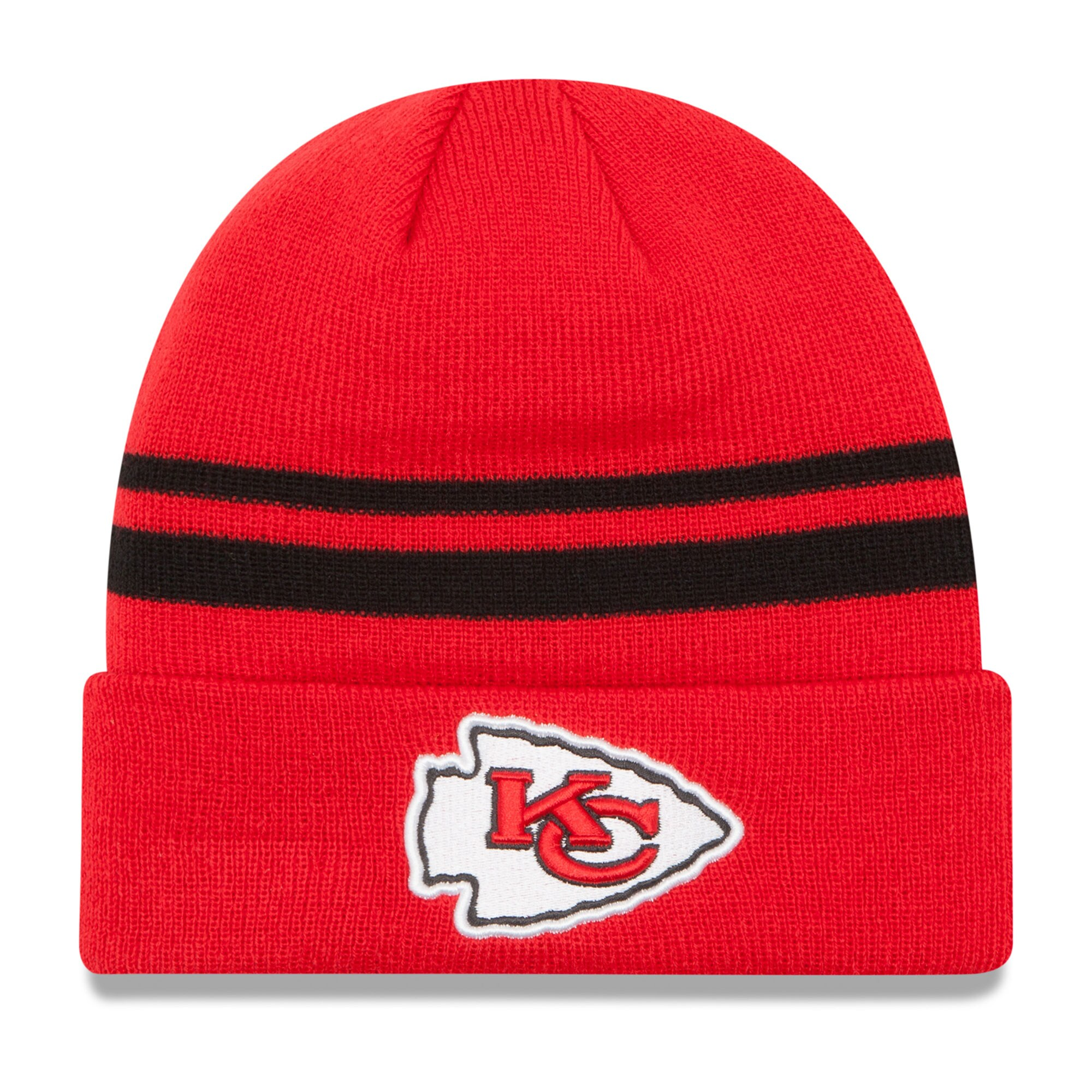 Kansas City Chiefs New Era Team Logo Cuffed Knit Hat - Red