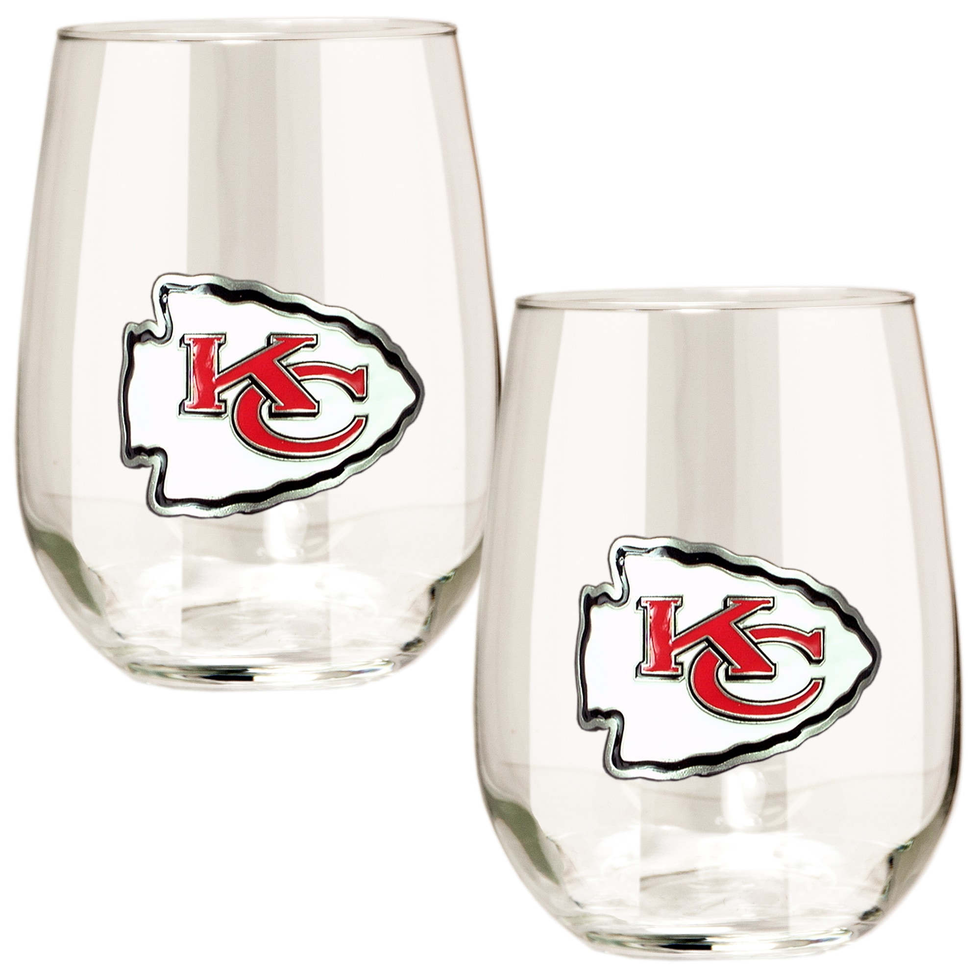 Kansas City Chiefs 15oz. Stemless Wine Glass Set