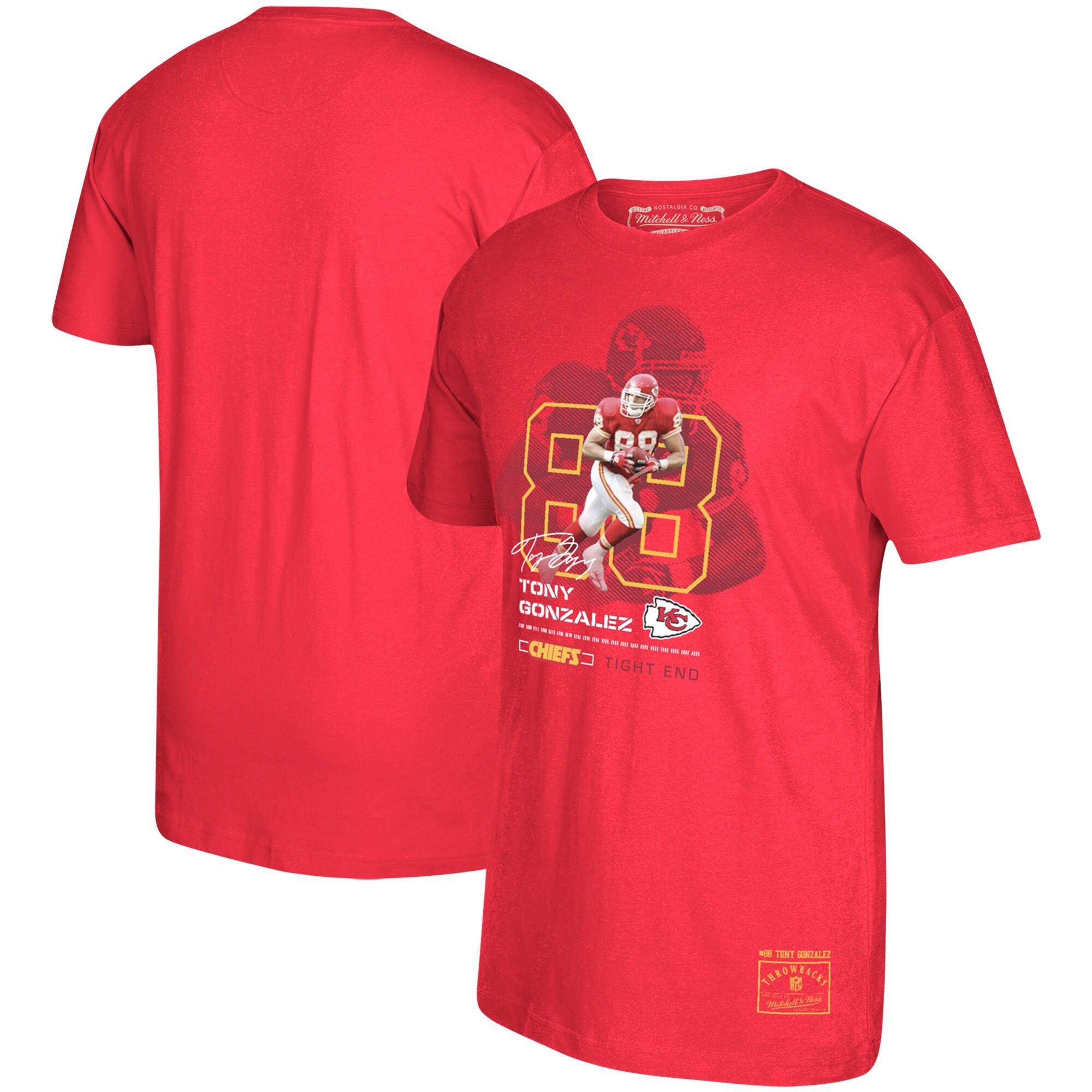 Tony Gonzalez Kansas City Chiefs Mitchell & Ness Retired Player Graphic T-Shirt - Red