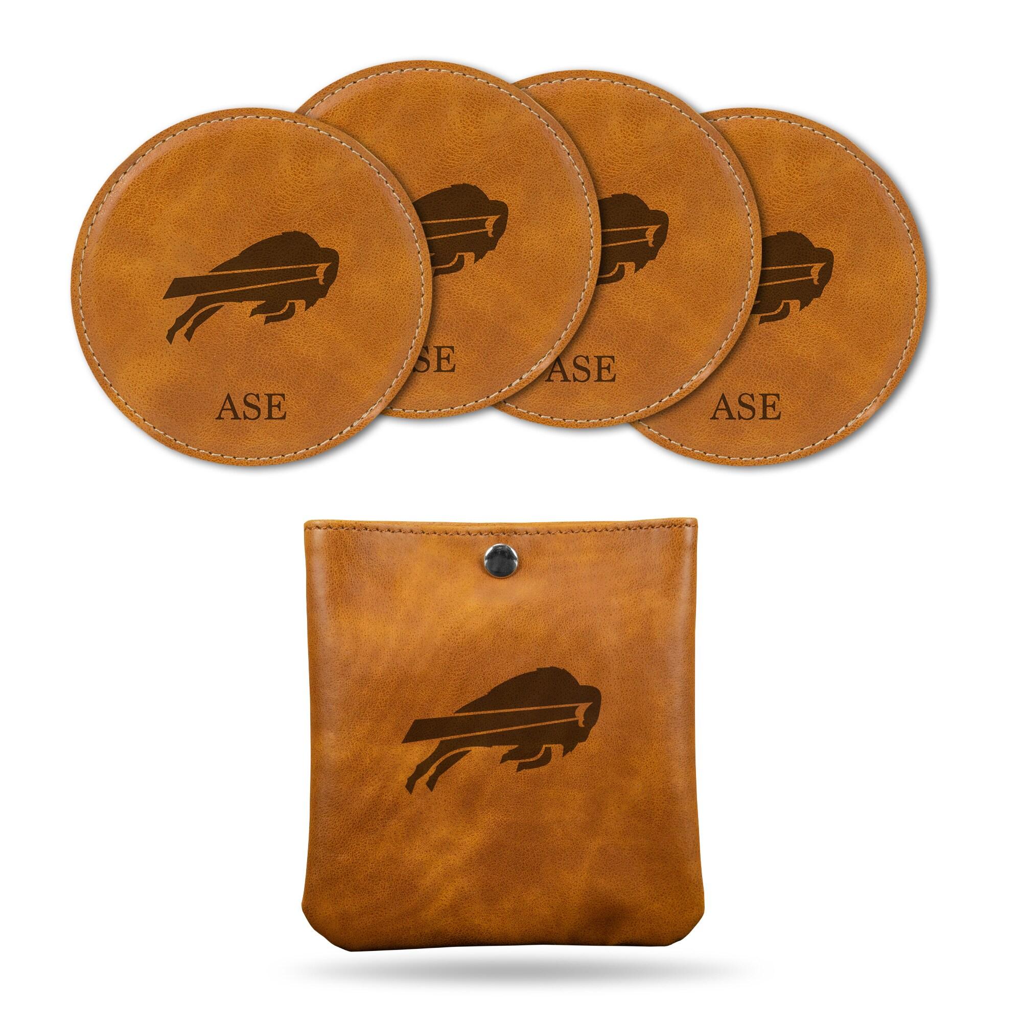 Buffalo Bills Sparo 4-Pack Personalized Coaster Set - Brown