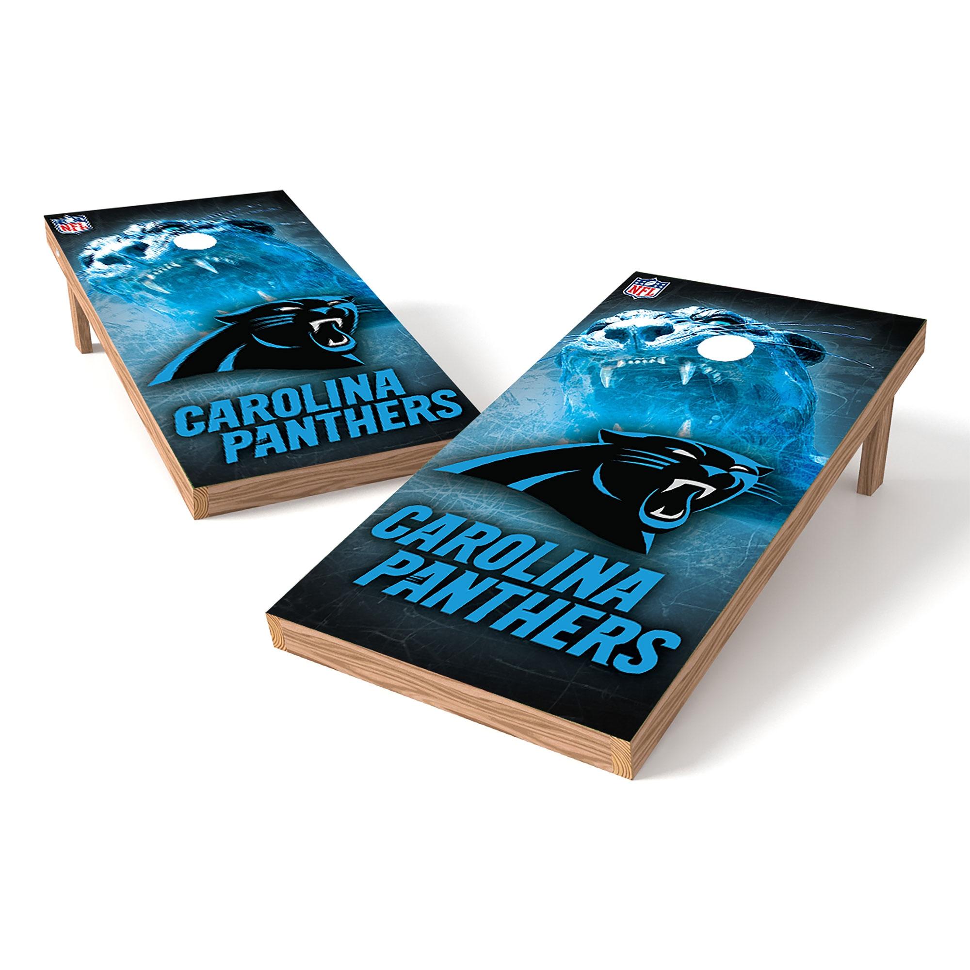 Carolina Panthers 2' x 4' Cornhole Board Tailgate Toss XL Set