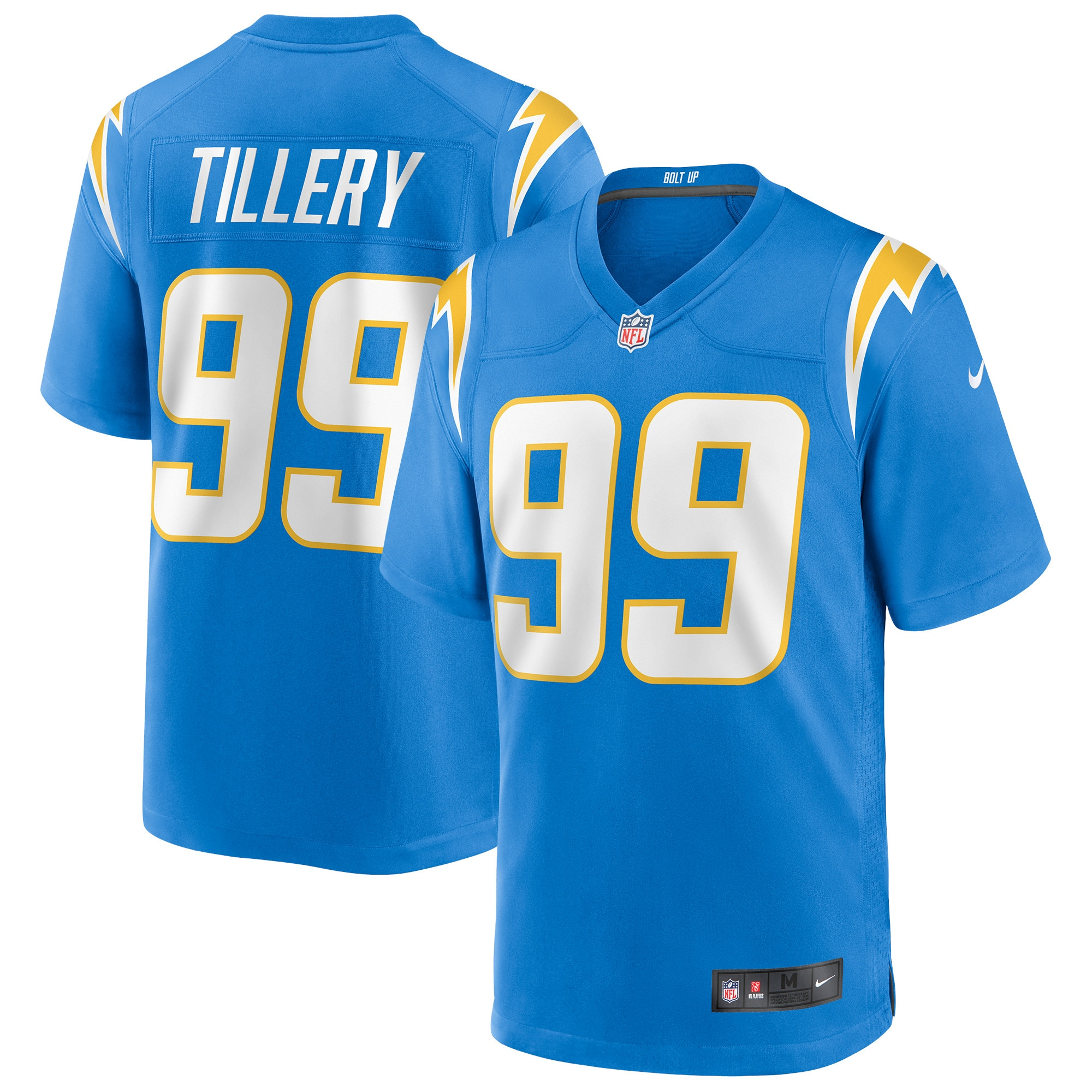 Jerry Tillery Los Angeles Chargers Nike Game Jersey - Powder Blue